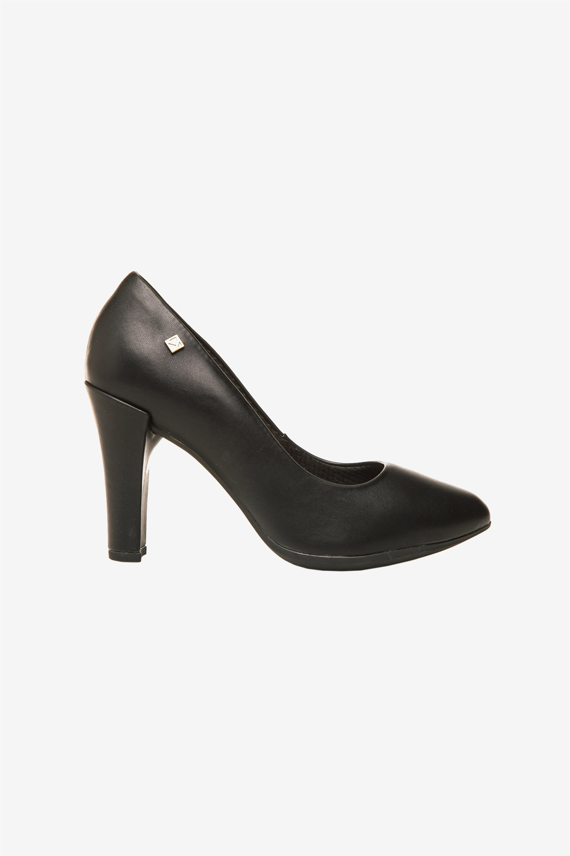 Piccadilly γυναικείες ψηλές γόβες με στρογγυλή μύτη - 69500100000007 - Μαύρο