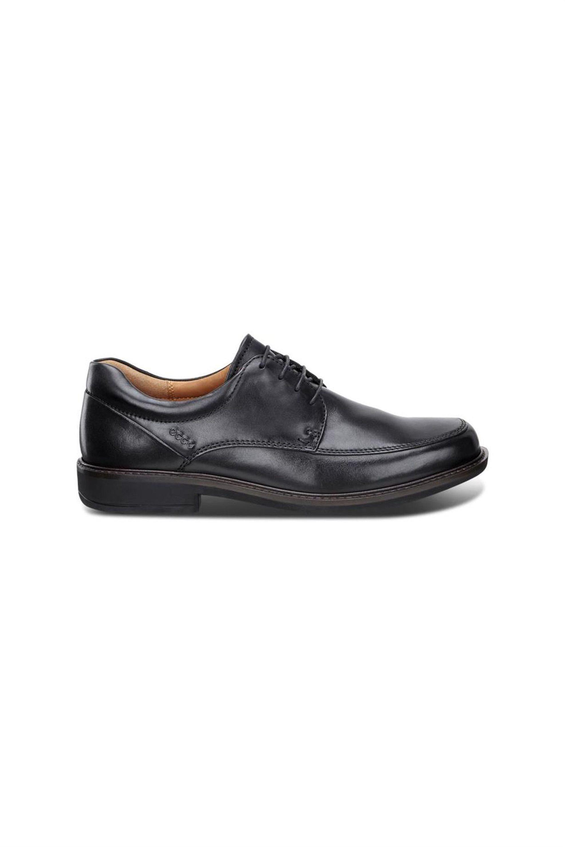 Ecco ανδρικό δερμάτινο παπούτσι Oxford με κορδόνια – 621114 – Μαύρο