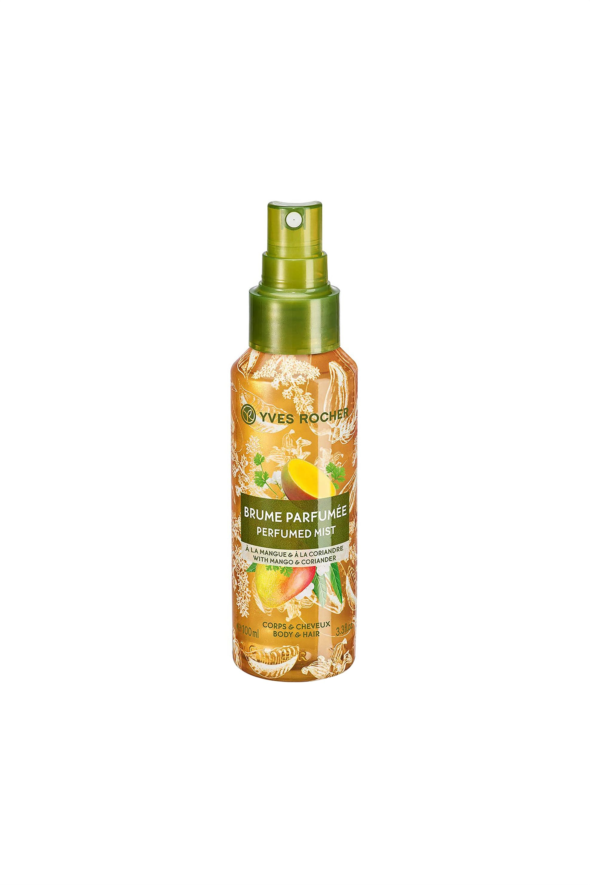 Yves Rocher Energizing Perfumed Mist Mango Coriander for Hair & Body 100 ml - 56356