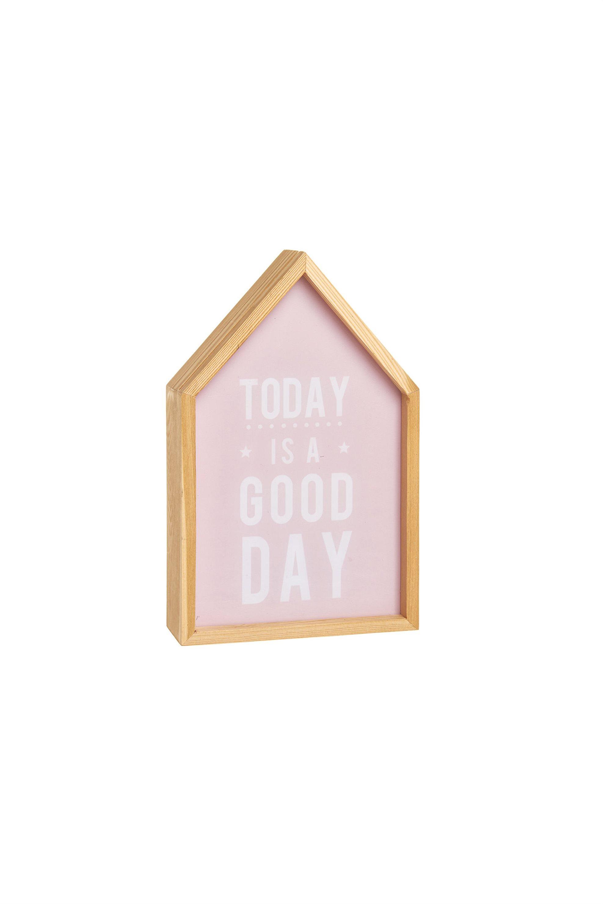 Ξύλινο Light Box με lettering Today Is A Good Day 27 x 17 cm Coincasa - 00562131 home   σαλονι   διακοσμητικά χώρου