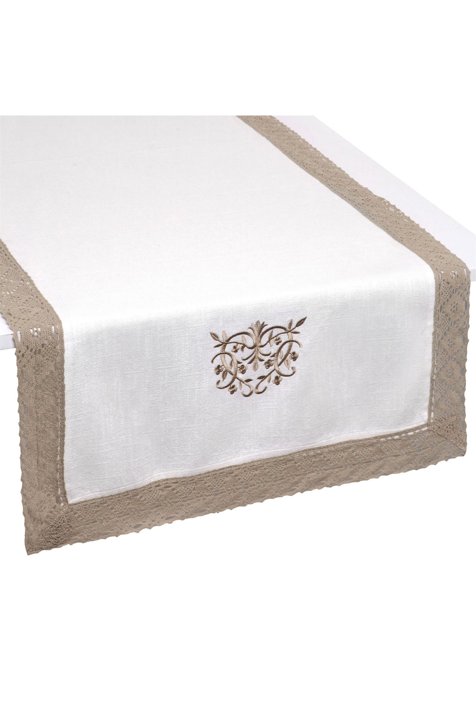 Ράνερ με κέντημα και δαντέλα 50x140 Coincasa - 000492477 - Λευκό home   κουζινα   τραβέρσες   ράνερ
