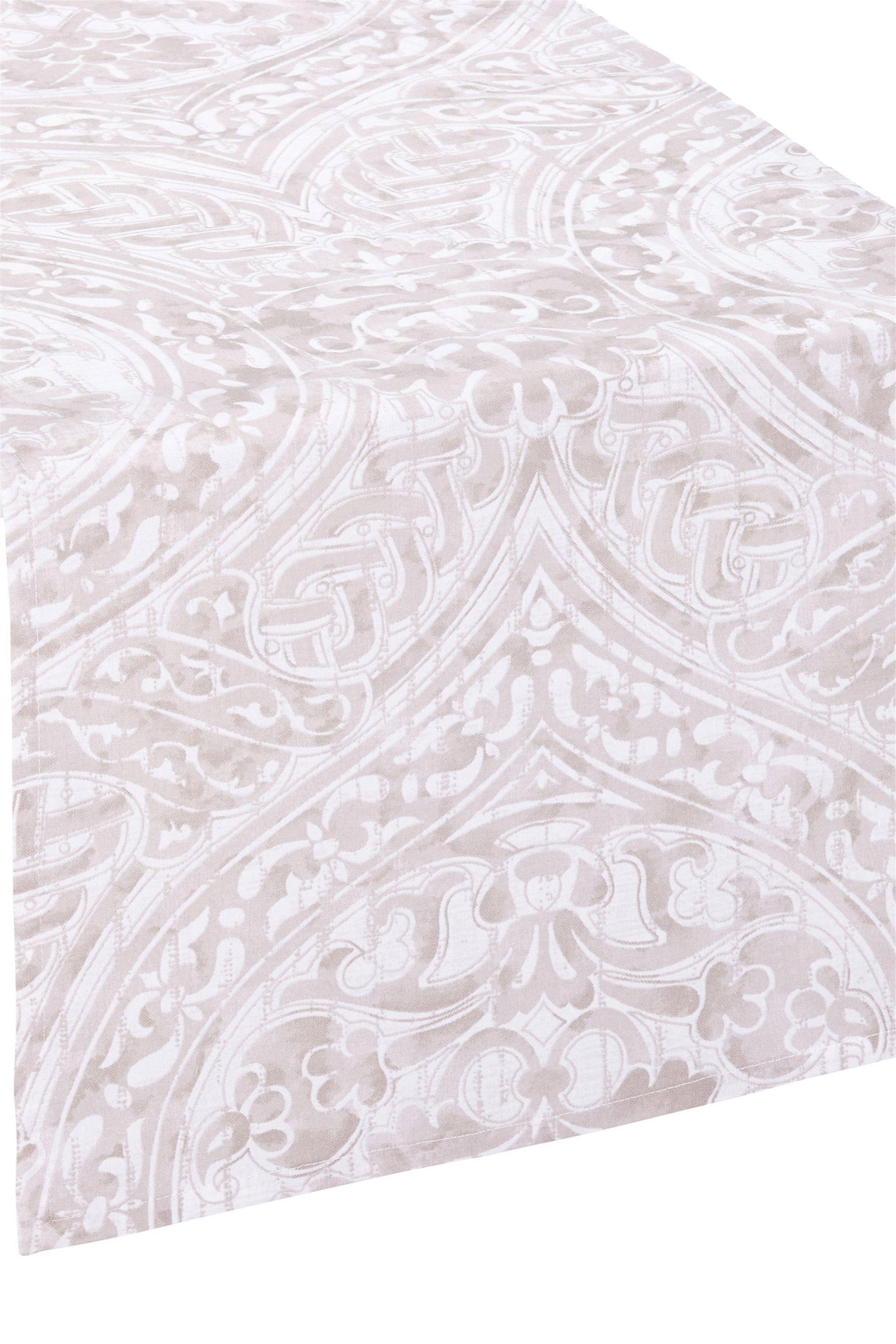 Ράνερ damask print 120 x 40 cm Coincasa - 000496084 - Μπεζ home   κουζινα   τραβέρσες   ράνερ