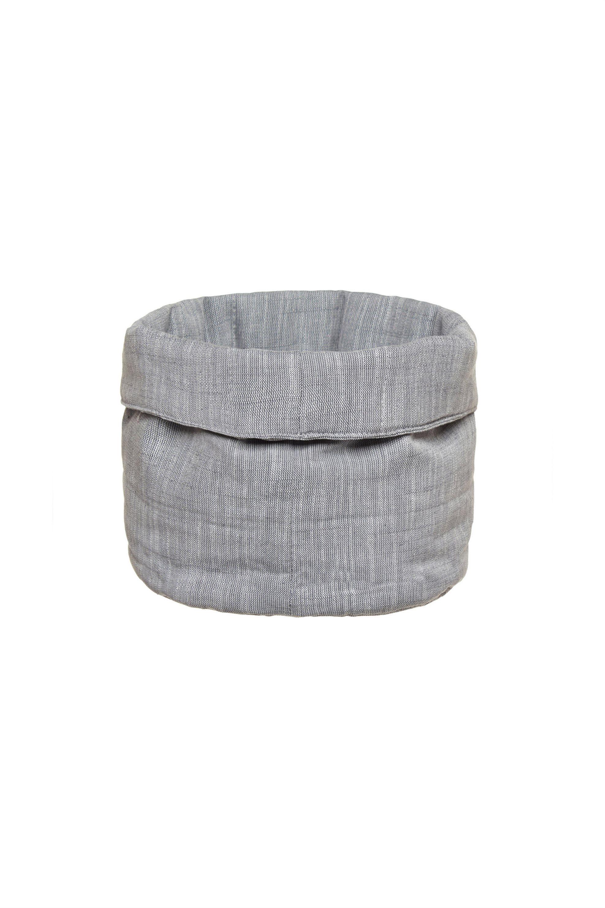 Καλαθάκι στρογγυλό 20 χ 20 cm Coincasa - 000495324 - Γκρι home   κουζινα   αξεσουάρ kουζίνας