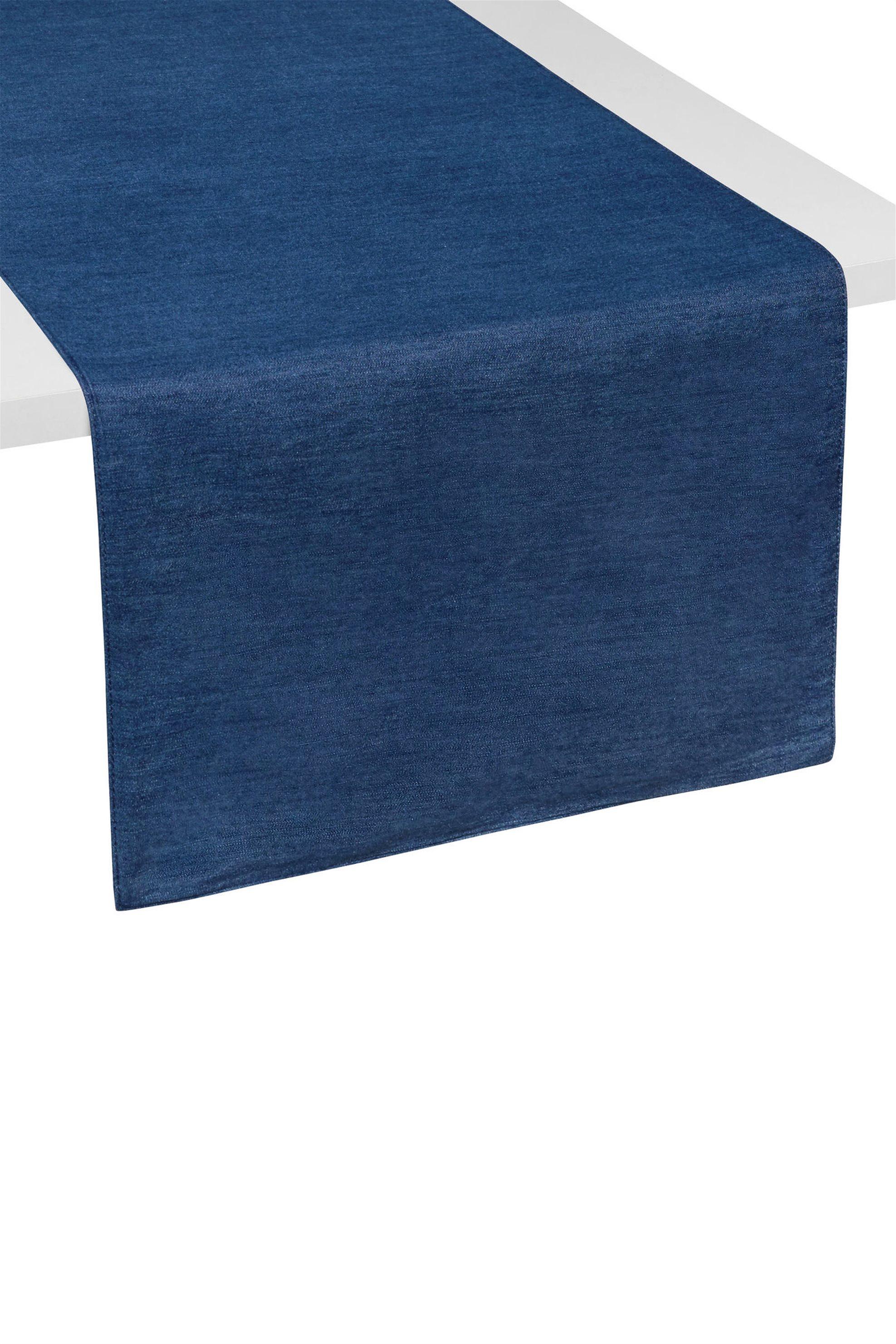 Ράνερ μπλε διπλής όψης 40 χ 140 cm Cooincasa - 000494790 - Μπλε home   κουζινα   τραβέρσες   ράνερ