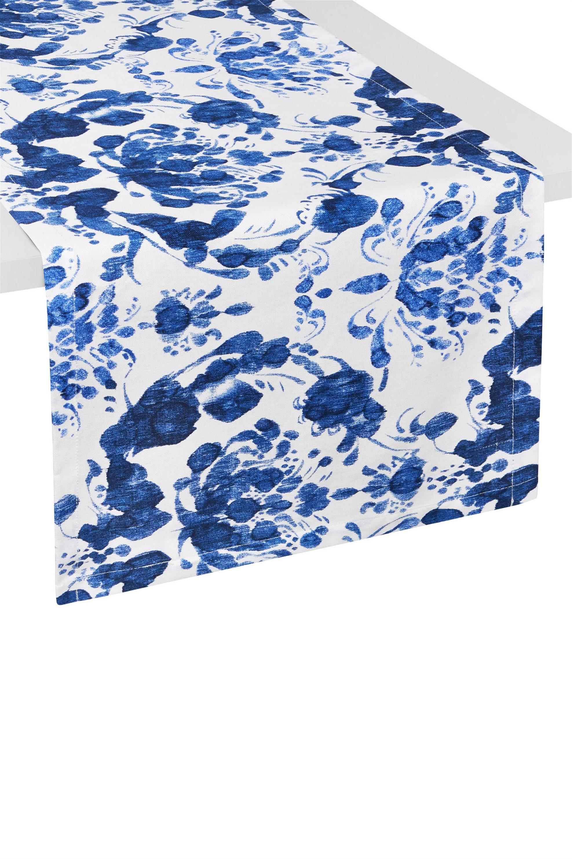 Coincasa ράνερ με σχέδιο Victory 40 x 140 cm - 000494804 - Μπλε home   κουζινα   τραβέρσες   ράνερ