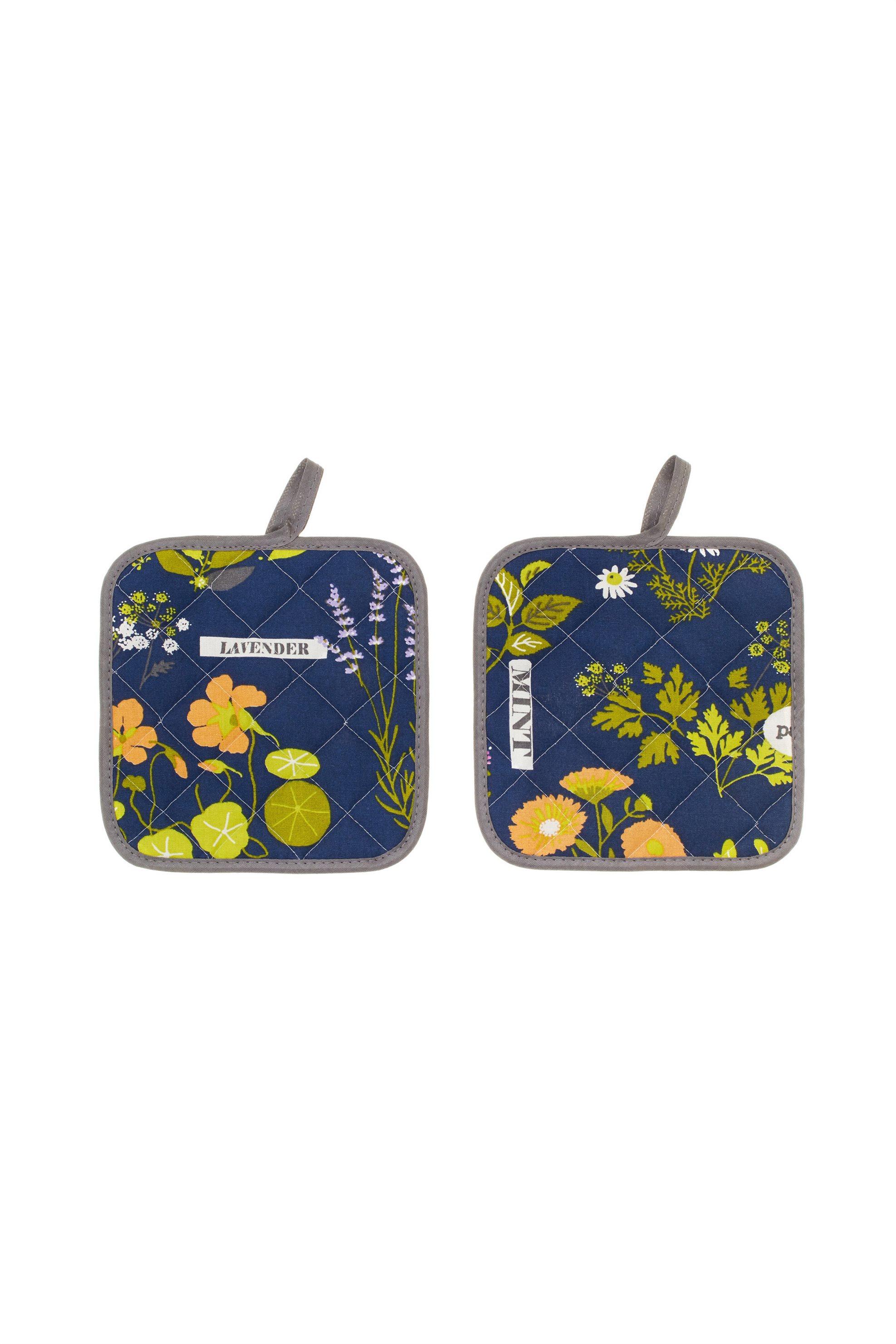 Σετ πιάστρες κουζίνας με σχέδιο Herbariume 18 x 18 cm ( 2 τεμάχια) Coincasa - 00 home   κουζινα   αξεσουάρ kουζίνας   γάντια   πιάστρες κουζίνας