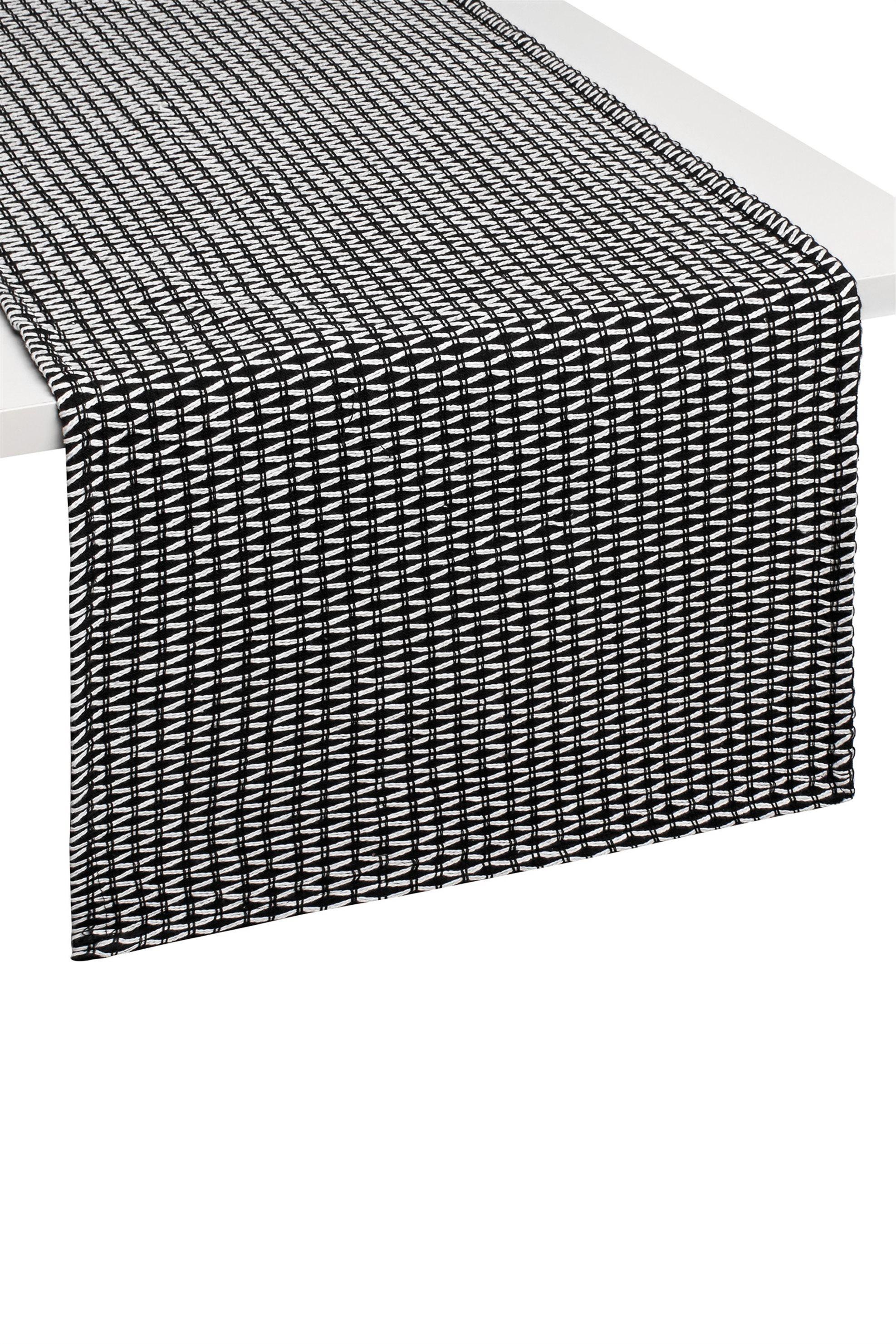 Ράνερ με γεωμετρικό σχέδιο 140 χ 40 cm Coincasa - 000495906 - Μαύρο home   κουζινα   τραβέρσες   ράνερ