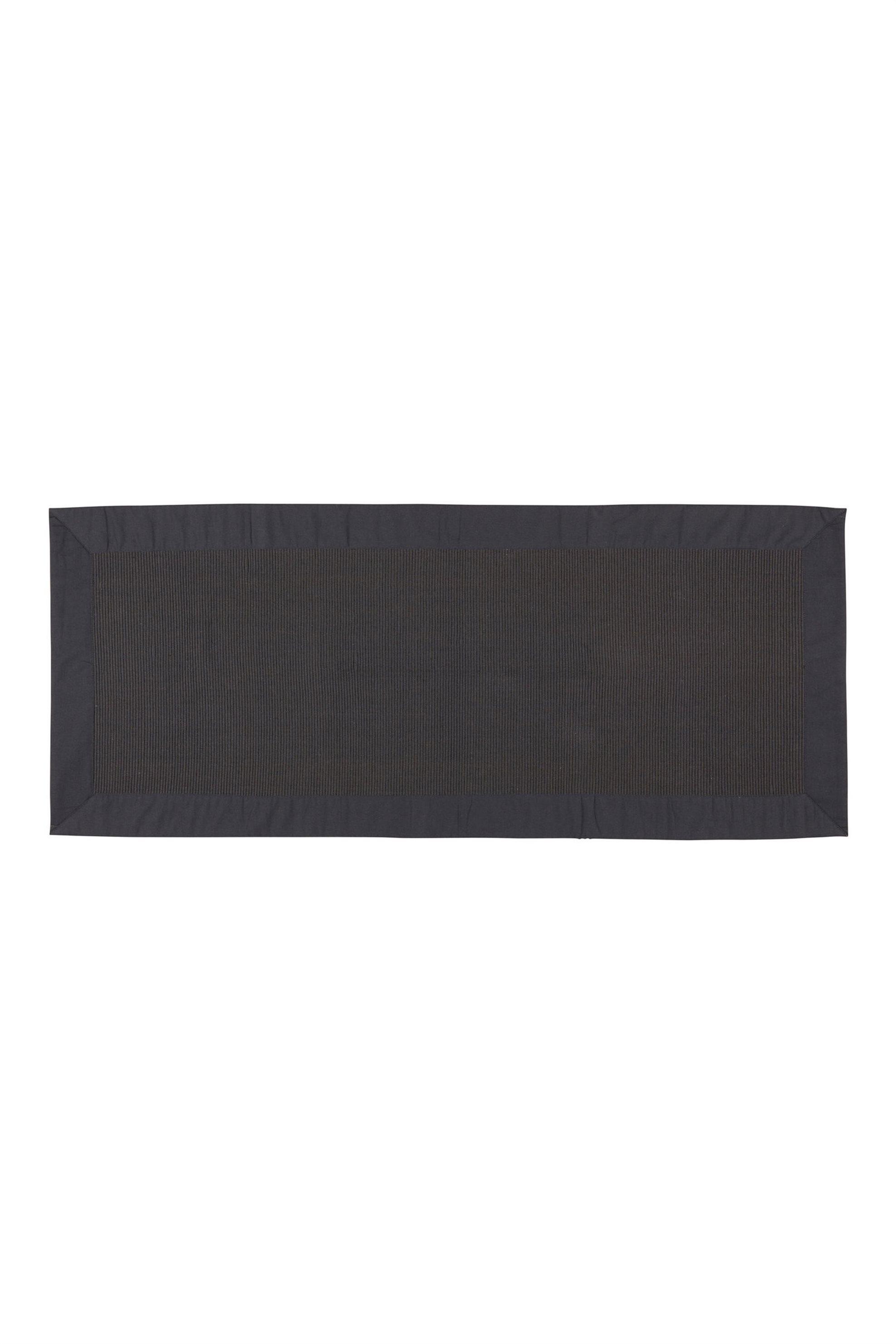 Σουπλά Zefiro μαύρο με ribbed σχέδιο 220 x 50 cm Coincasa - 000495944 - Μαύρο home   κουζινα   σαλονι   σουπλά