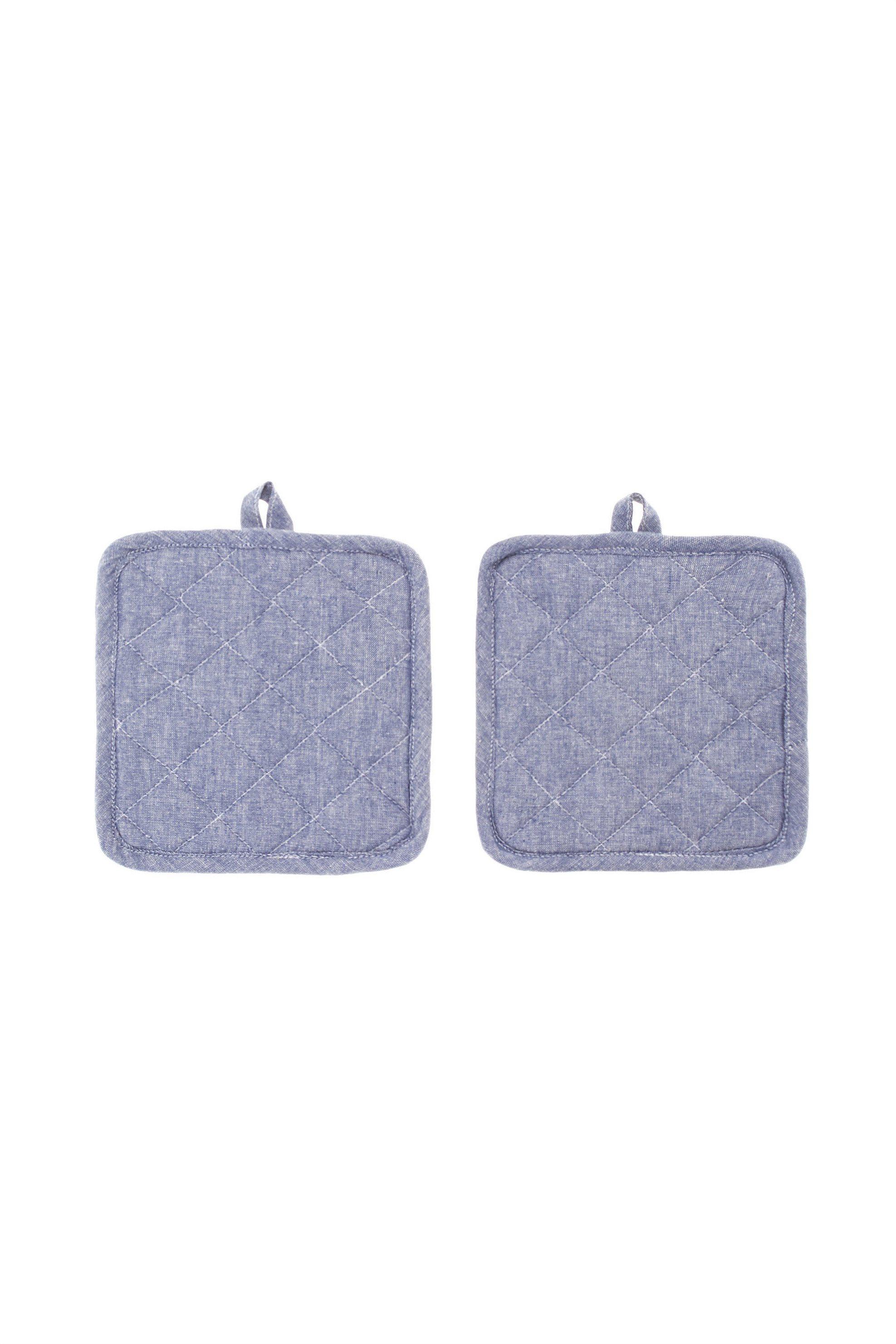 Σετ πιάστρες κουζίνας Μélange 18 x 18 cm ( 2 τεμάχια) Coincasa - 000494753 - Μπλ home   κουζινα   αξεσουάρ kουζίνας   γάντια   πιάστρες κουζίνας