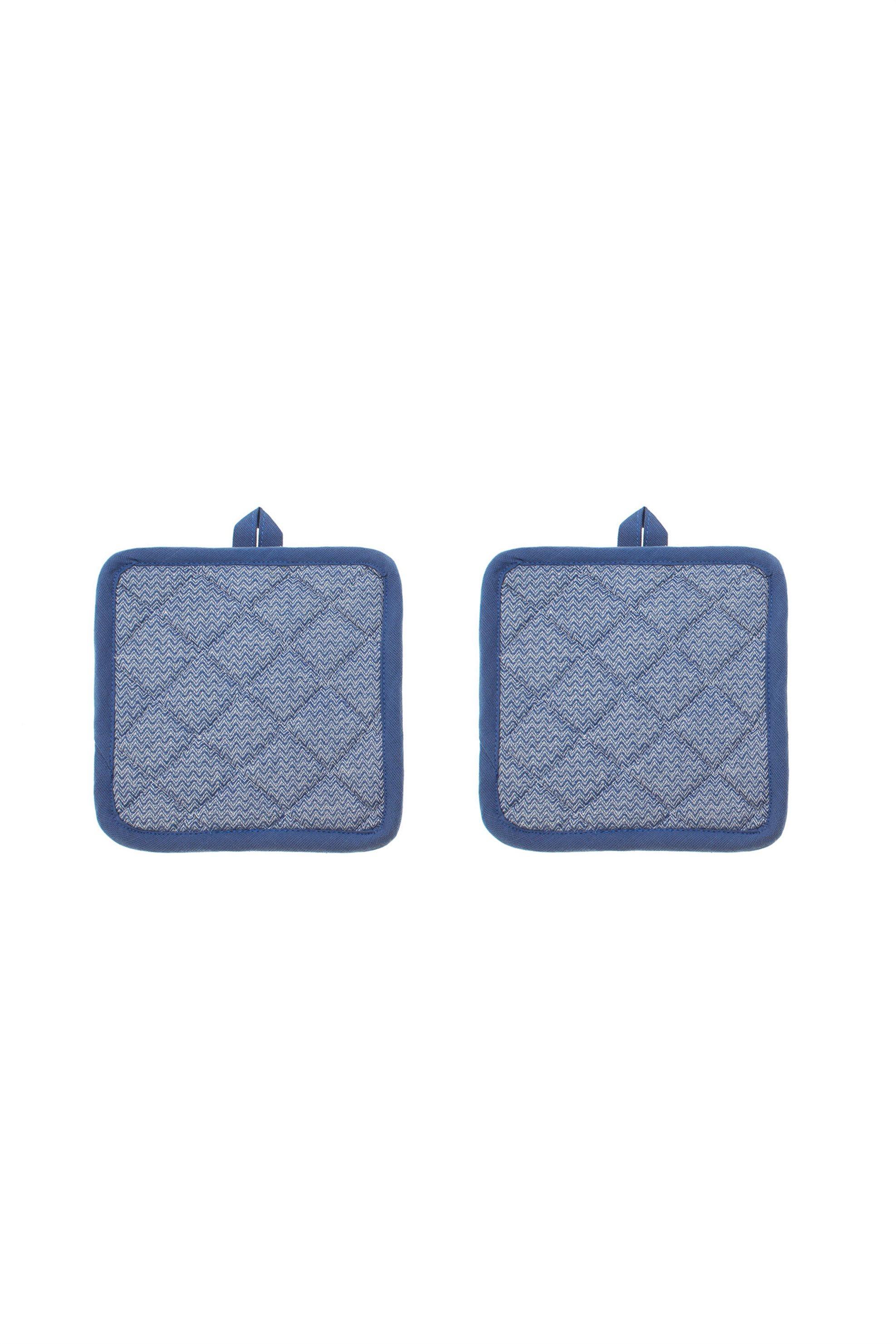 Σετ πιάστρες κουζίνας 18 x 18 cm ( 2 τεμάχια ) Coincasa - 000496119 - Μπλε home   κουζινα   αξεσουάρ kουζίνας   γάντια   πιάστρες κουζίνας