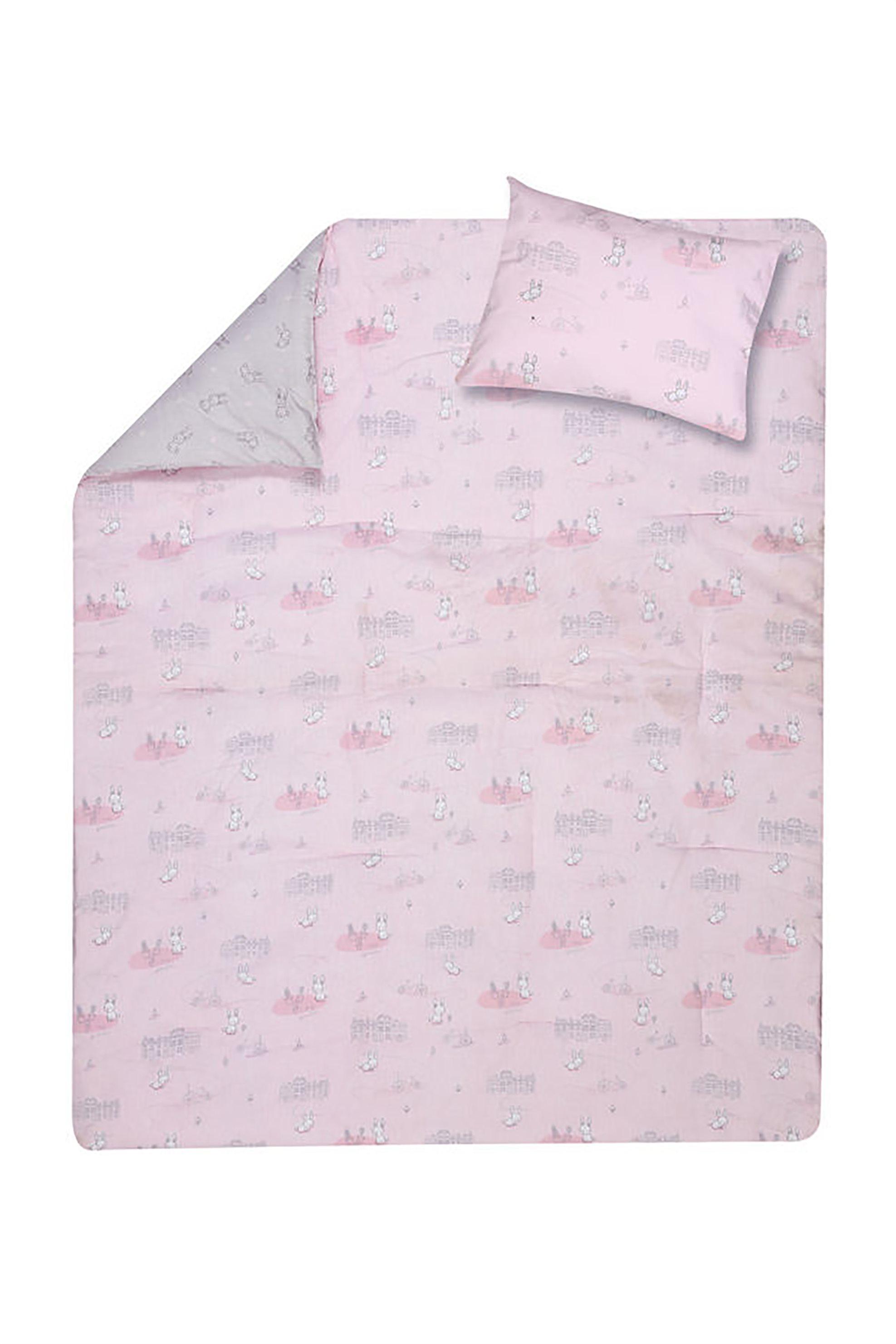 NEF-NEF Σετ βρεφική παπλωματοθήκη ροζ Bunny Life (2 τεμάχια) - 022220 - Ροζ home   παιδια   παπλωματοθήκες   σετ παιδικές παπλωματοθήκες