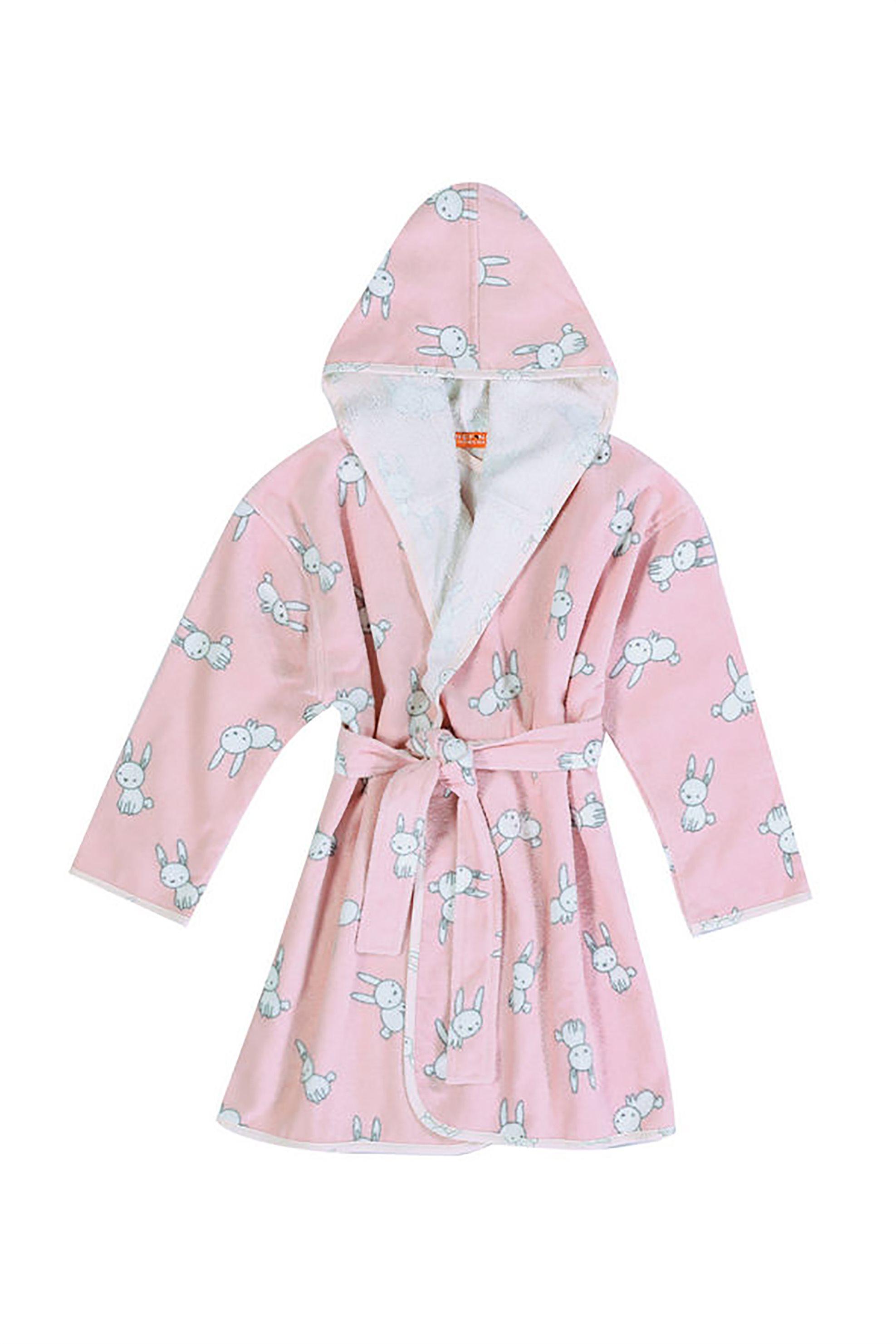 NEF-NEF Βρεφικό μπουρνούζι Bunny Life - 022857 - Ροζ home   παιδια   παιδικά μπουρνούζια   ρόμπες