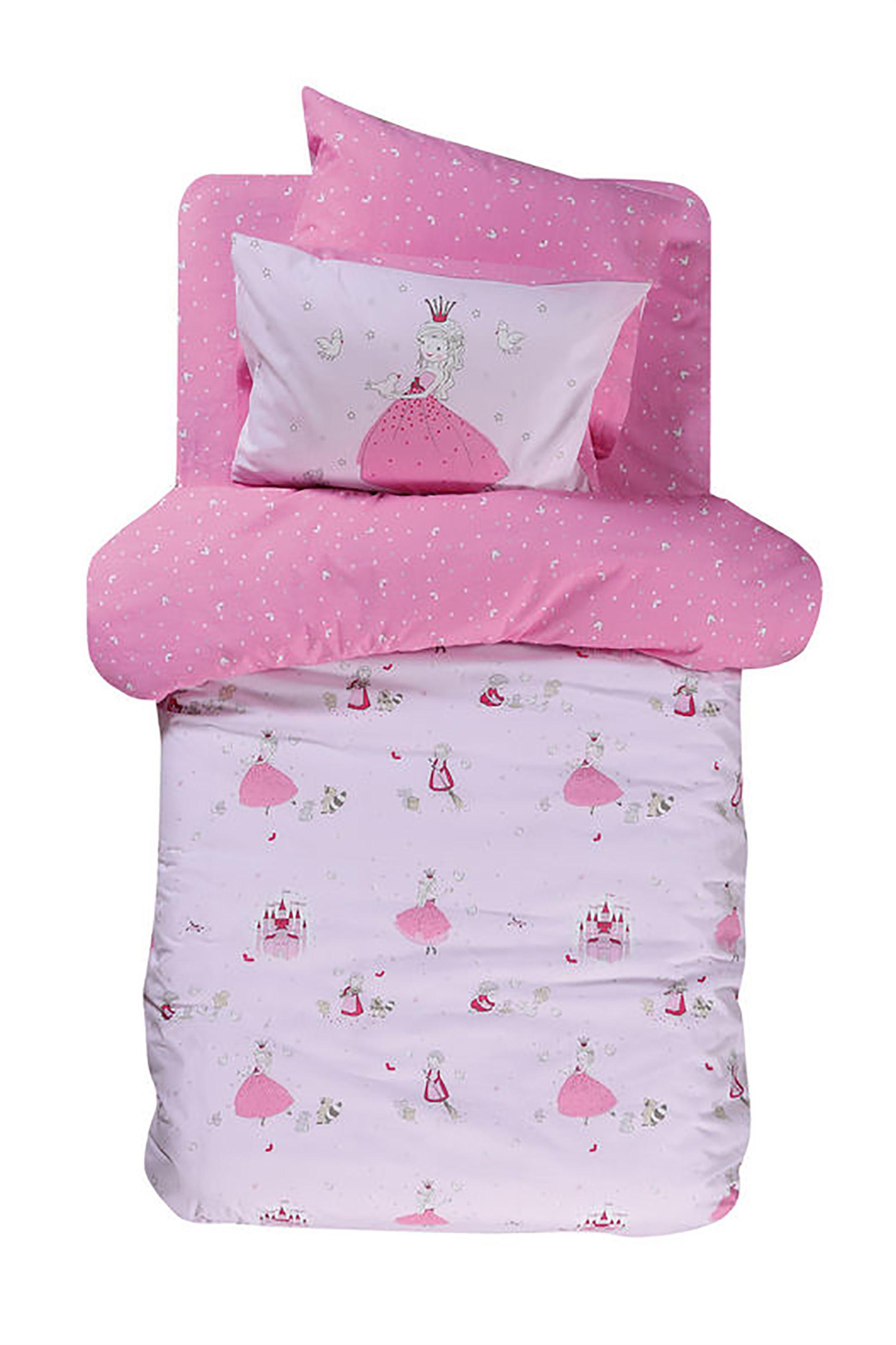 NEF-NEF Σετ παιδική παπλωματοθήκη ροζ A Dream Comes True (2 τεμάχια)  - 022274  home   παιδια   παπλωματοθήκες   σετ παιδικές παπλωματοθήκες