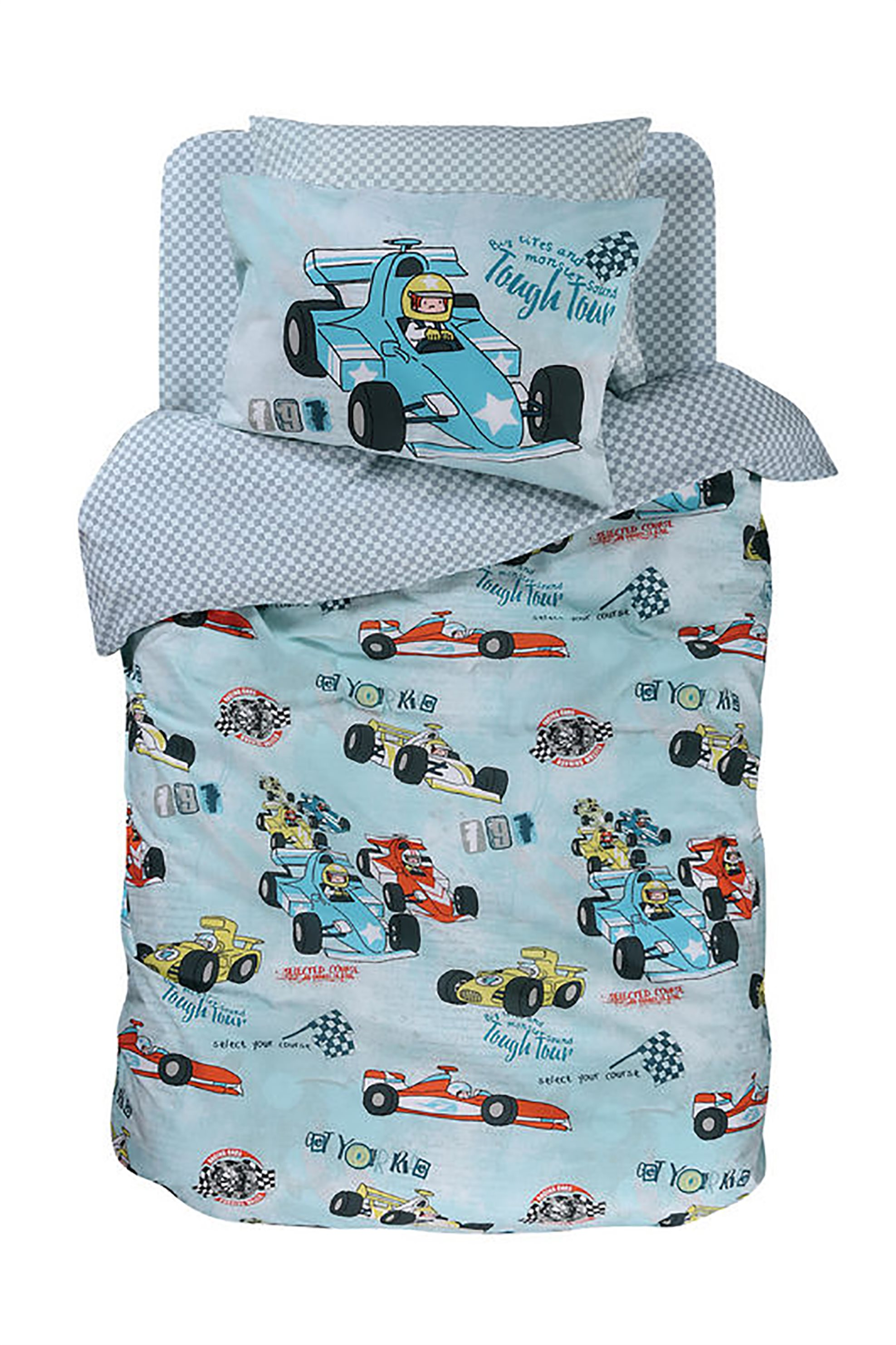 NEF-NEF Σετ παιδική παπλωματοθήκη Racing Car (2 τεμάχια)  - 022279 - Μπλε Ανοιχ home   παιδια   παπλωματοθήκες   σετ παιδικές παπλωματοθήκες