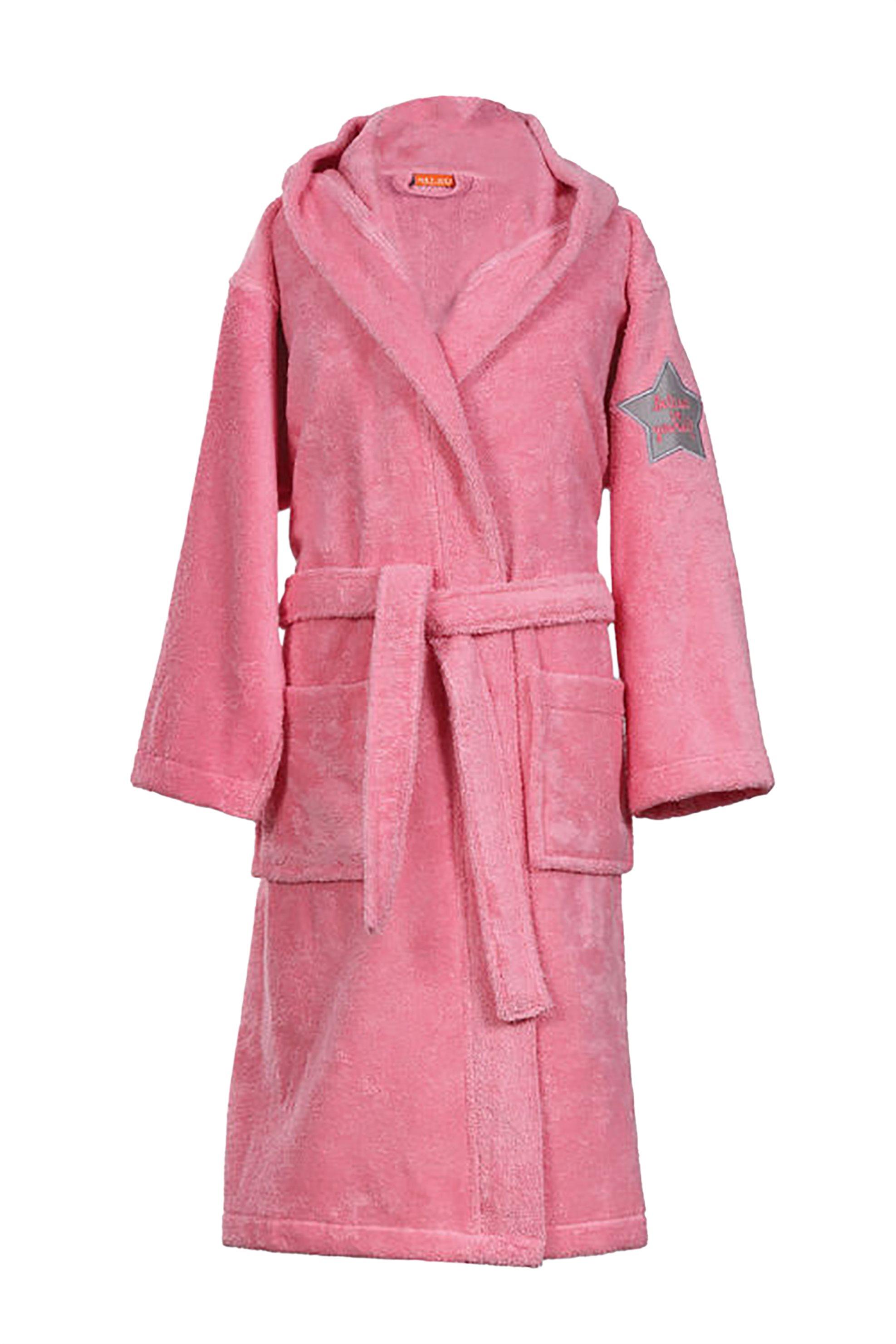NEF-NEF Μπουρνούζι με κουκούλα μονόχρωμοJunior - 022692 - Ροζ home   παιδια   παιδικά μπουρνούζια   ρόμπες