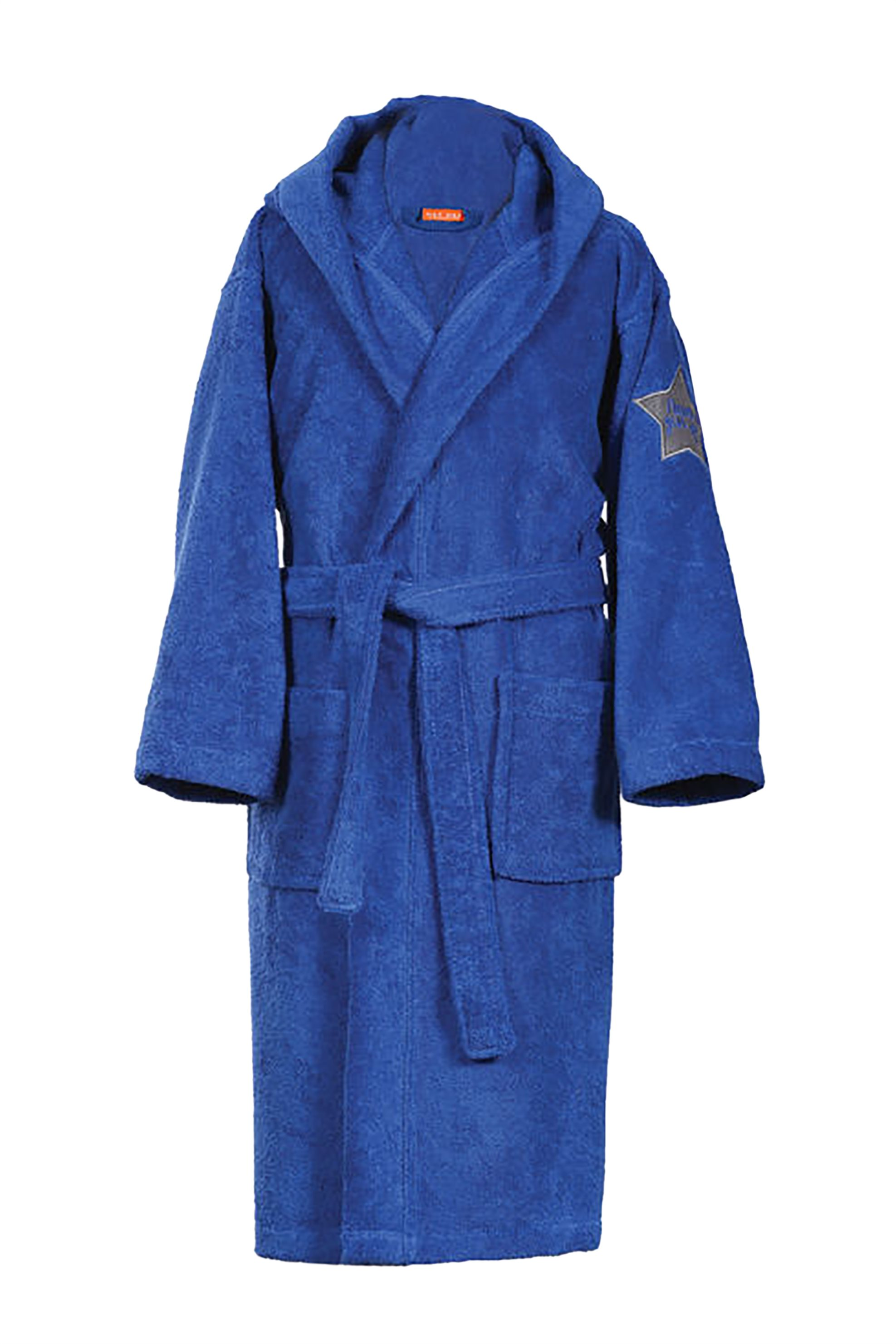NEF-NEF Μπουρνούζι με κουκούλα μονόχρωμοJunior - 022692 - Μπλε Ηλεκτρίκ home   παιδια   παιδικά μπουρνούζια   ρόμπες