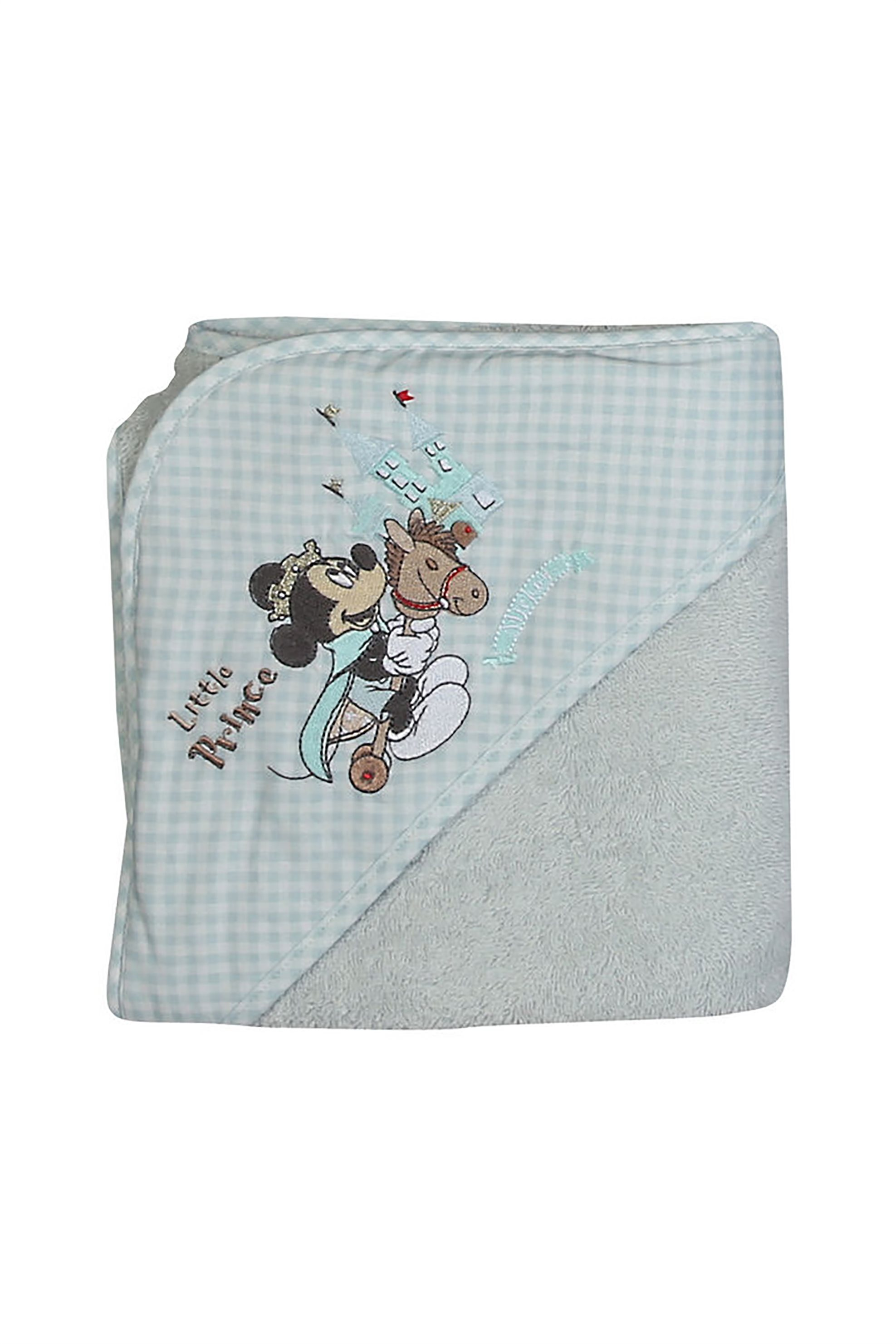 NEF-NEF Βρεφική κάπα Mickey Prince (75x75)  - 021596 - Γκρι Γαλάζιο home   παιδια   πετσέτες   παιδικά μπουρνούζια   ρόμπες