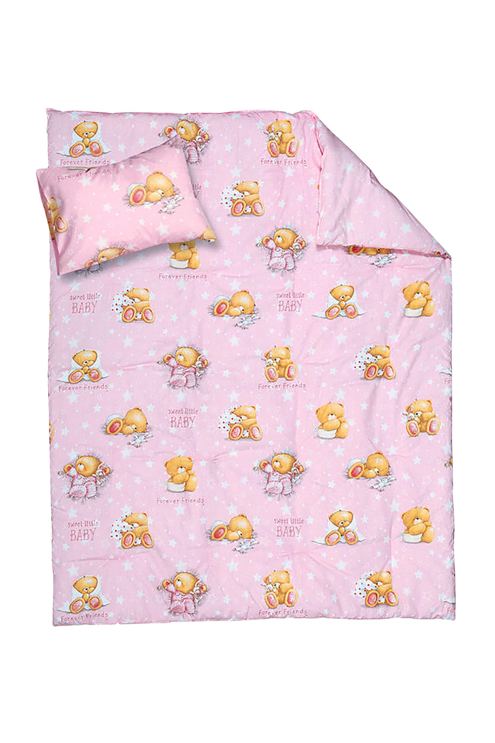 NEF-NEF Σετ βρεφική παπλωματοθήκη Forever Sleepy (2 τεμάχια)  - 019791 - Ροζ home   παιδια   παπλωματοθήκες   σετ παιδικές παπλωματοθήκες