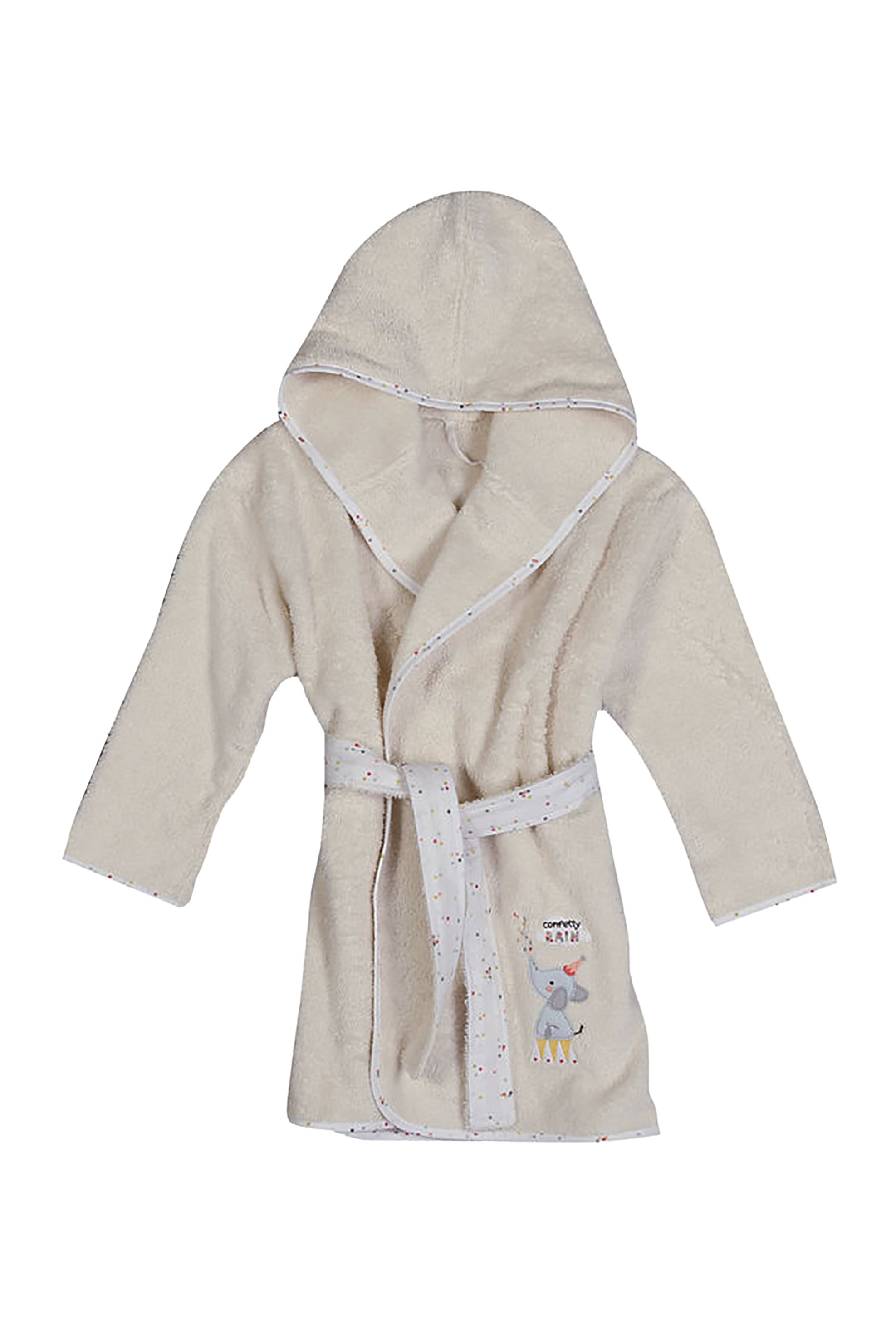 NEF-NEF Βρεφικό μπουρνούζι Confetti Rain  - 021465 - Μπεζ home   παιδια   παιδικά μπουρνούζια   ρόμπες