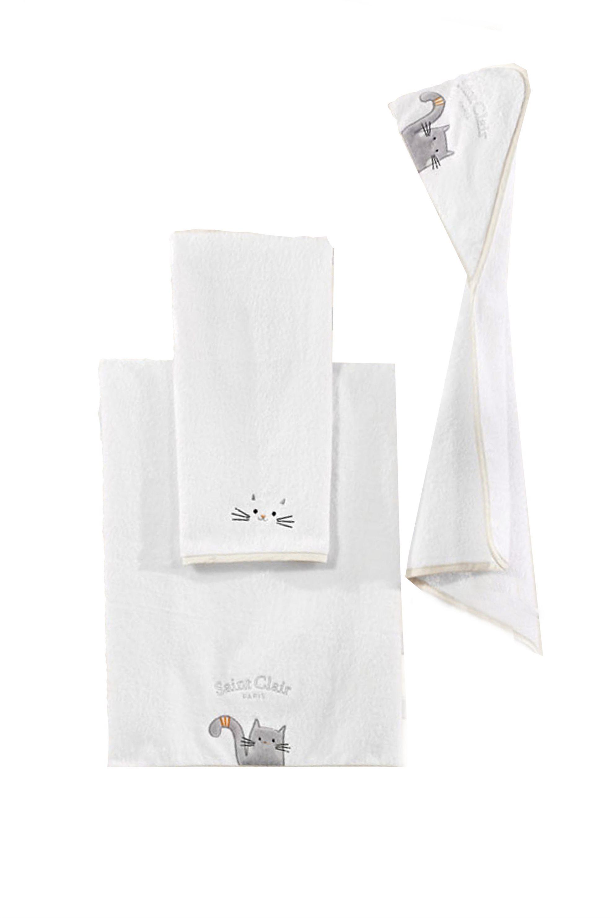 Saint Clair Paris Σετ βρεφικές πετσέτες δύο τεμαχίων Max - 1722090217000 - Λευκό home   παιδια   πετσέτες   σετ παιδικές πετσέτες