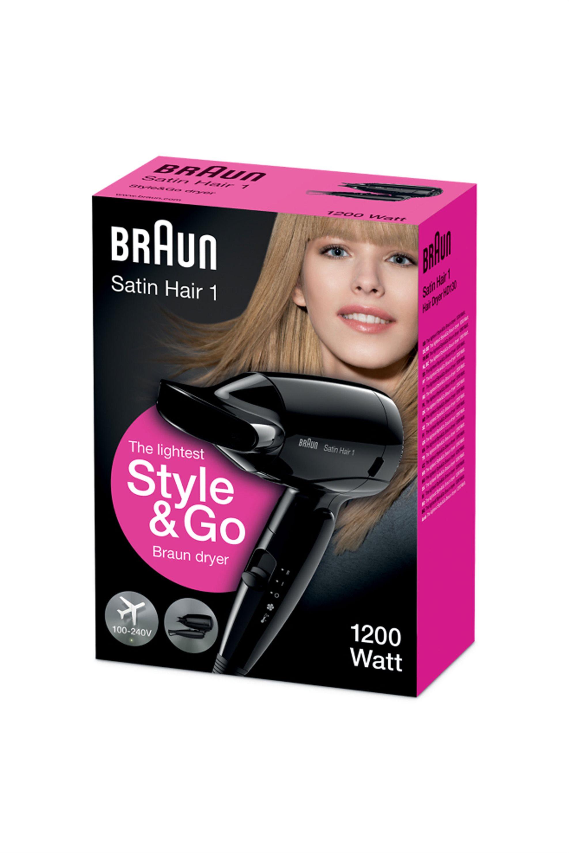 Σεσουάρ ταξιδίου 1200W HD130 Braun - HD130 συσκευεσ περιποιησησ   πιστολάκια μαλλιών