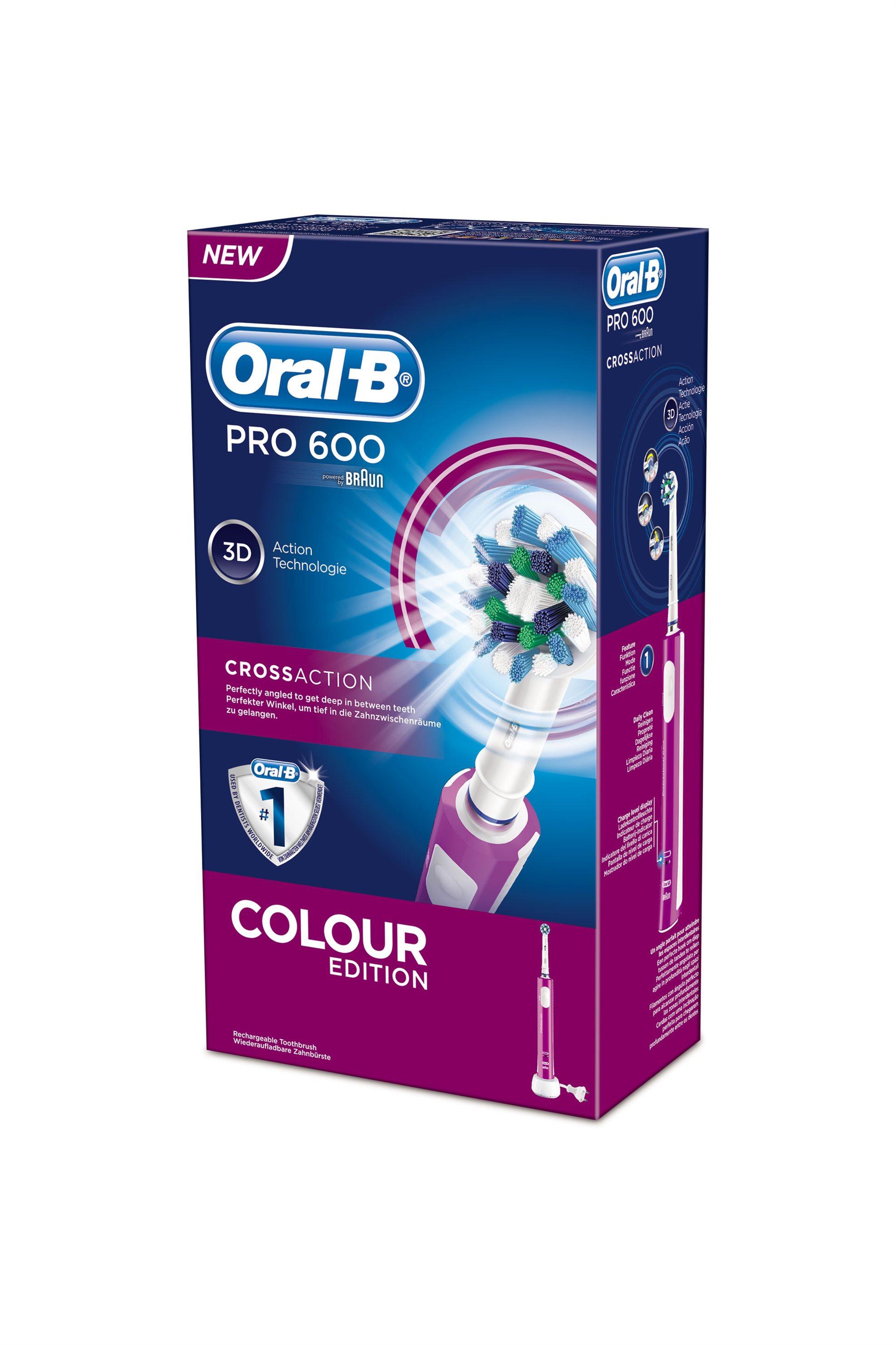 Επαναφορτιζόμενη οδοντόβουρτσα Oral-B Precision Clean 600 Color Edition Pink Bra home   συσκευεσ περιποιησησ   ηλεκτρικές οδοντόβουρτσες