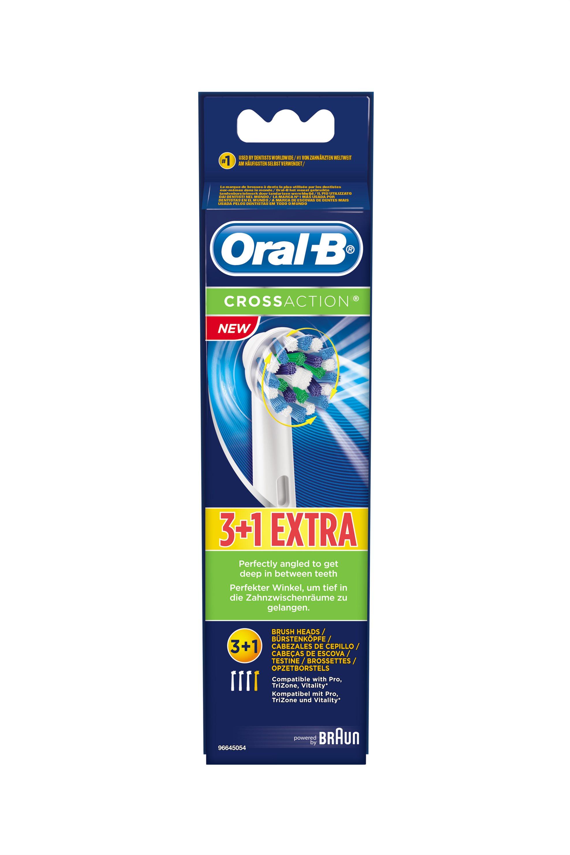 Ανταλλακτικές Κεφαλές Oral-b Cross Action 3+1 Braun - EB50-4/3 home   συσκευεσ περιποιησησ   ηλεκτρικές οδοντόβουρτσες