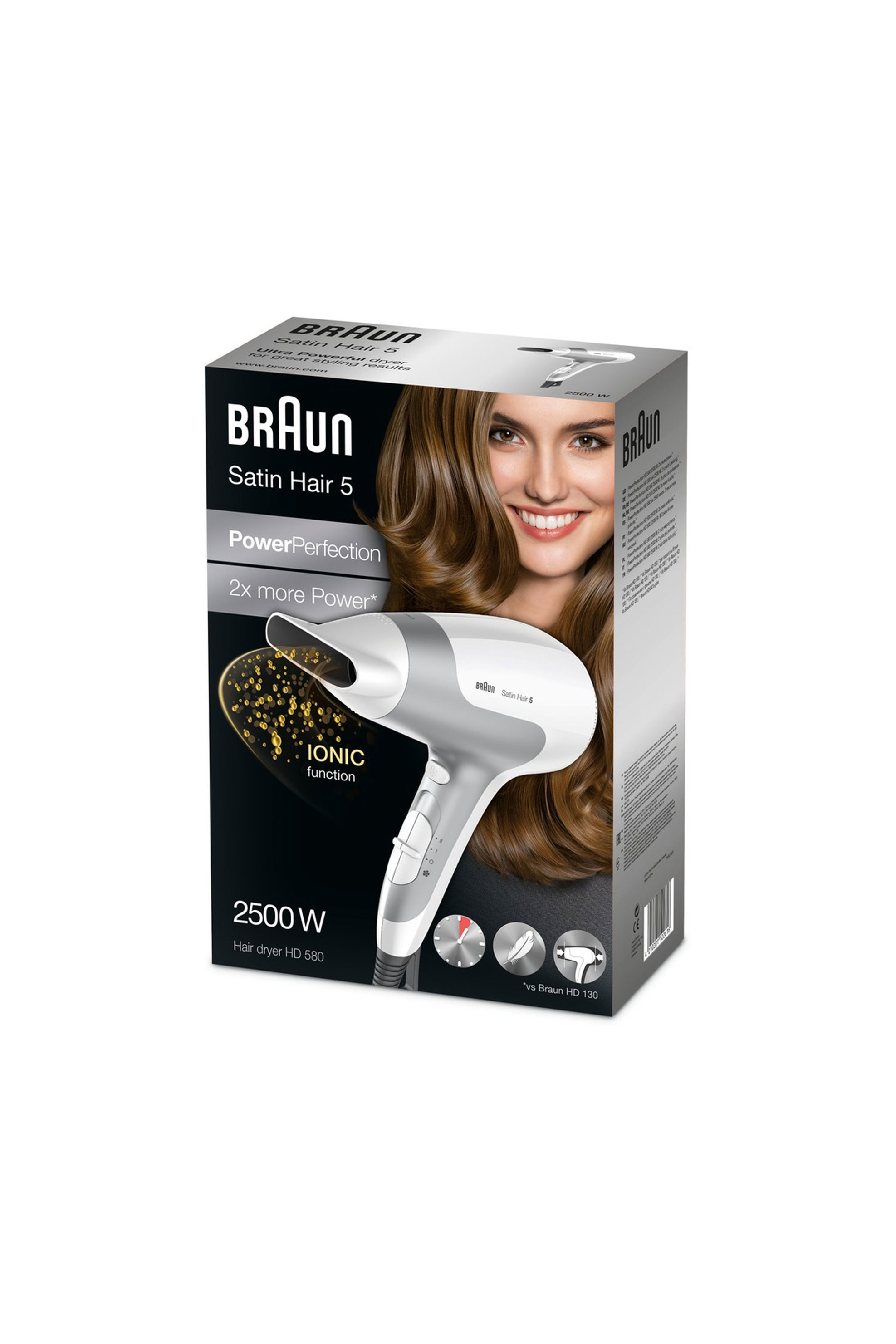 Σεσουάρ μαλλιών HD580 Satin Hair 5 Braun - HD580 home   συσκευεσ περιποιησησ   πιστολάκια μαλλιών