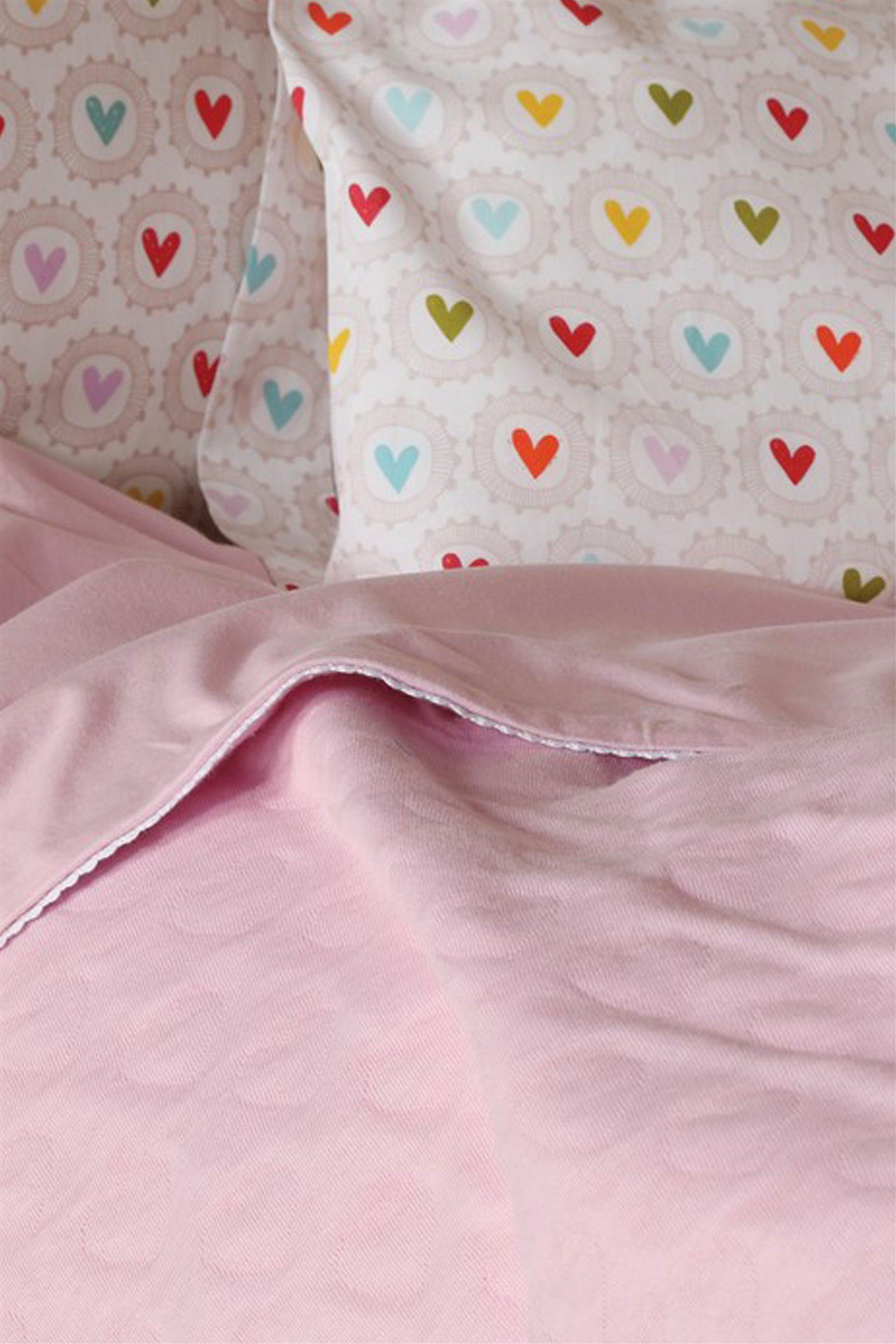 Βρεφική ροζ κουβέρτα κούνιας Cute Heart NEF-NEF - 017006 - Ροζ home   παιδια   κουβέρτες