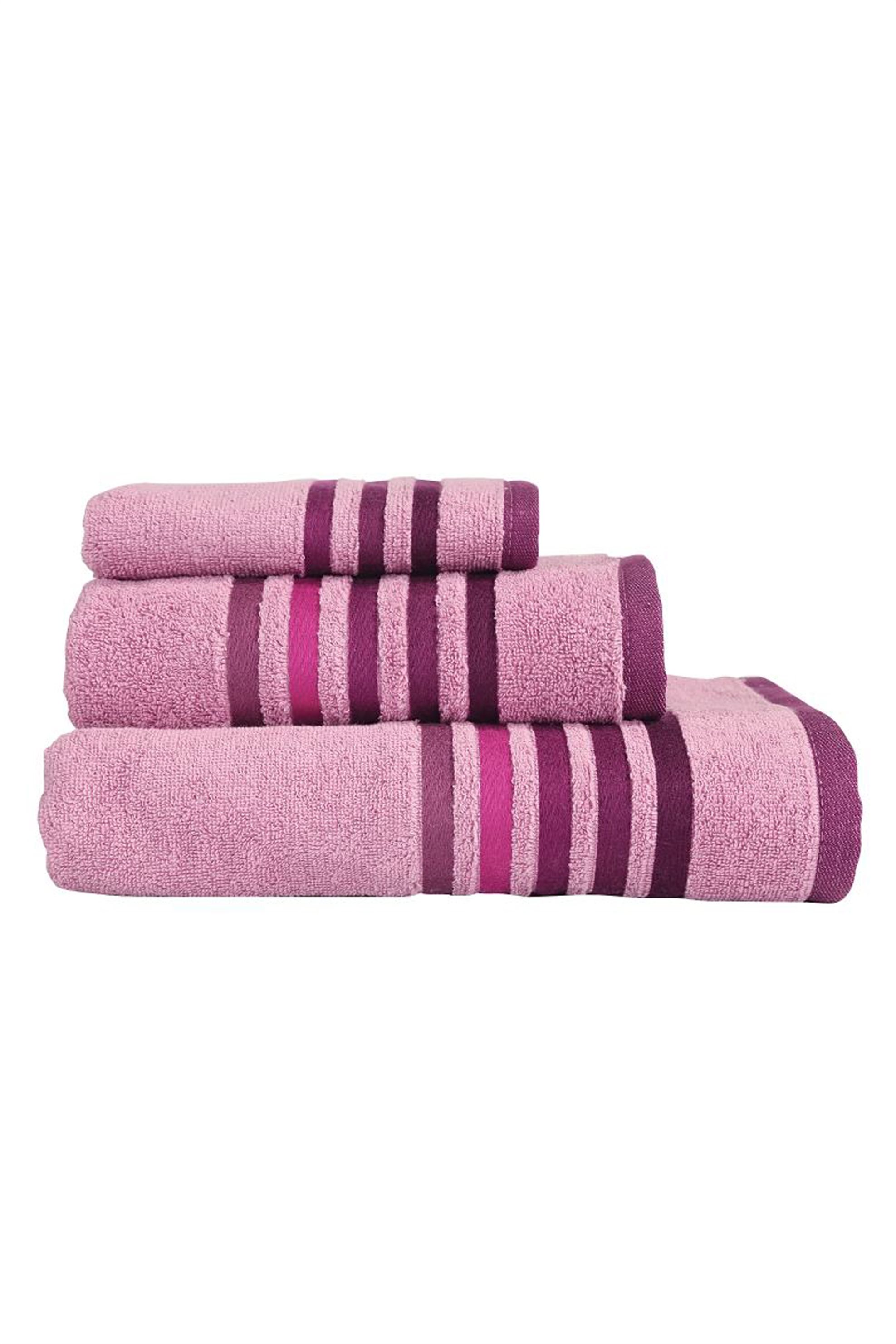 Σετ πετσέτες μωβ Lines (3 τεμάχια) NEF-NEF - 018882 APPLE - Μοβ home   μπανιο   πετσέτες μπάνιου   σετ πετσέτες μπάνιου