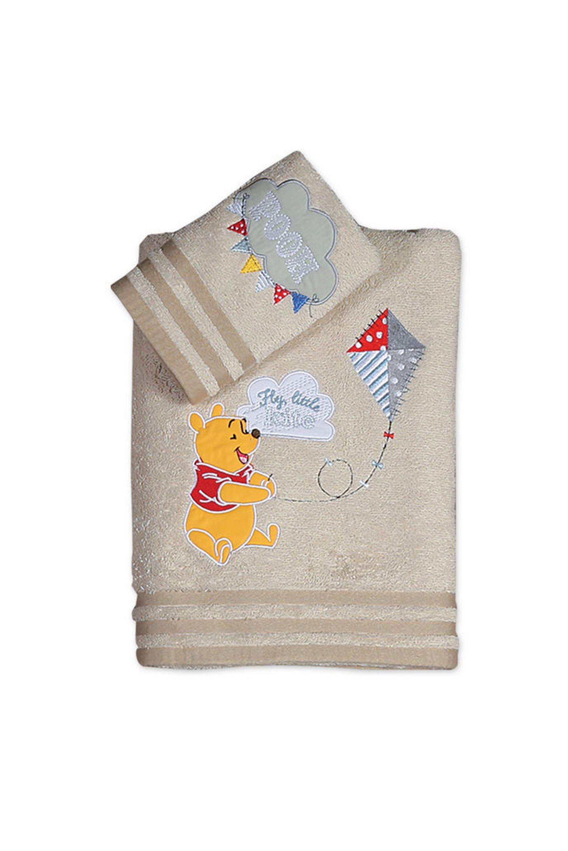 Σετ βρεφικές πετσέτες Winnie Fly Kite (70 x 140 cm) Disney - 019415 - Εκρού home   παιδια   πετσέτες