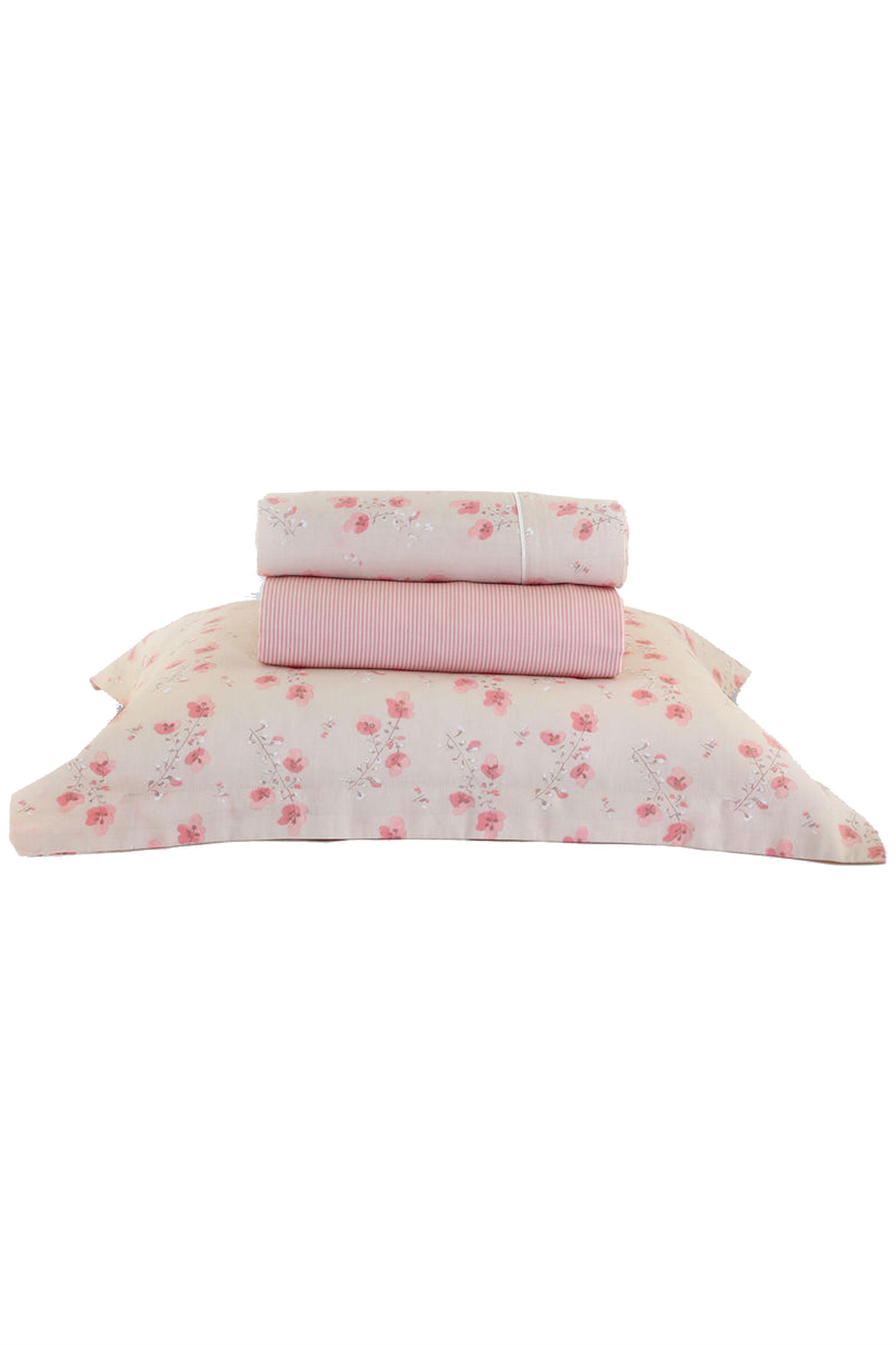Σετ παπλωματοθήκη υπέρδιπλη Petunia NEF-NEF - 021055 - Ροζ home   υπνοδωματιο   παπλωματοθήκες   σετ παπλωματοθήκης