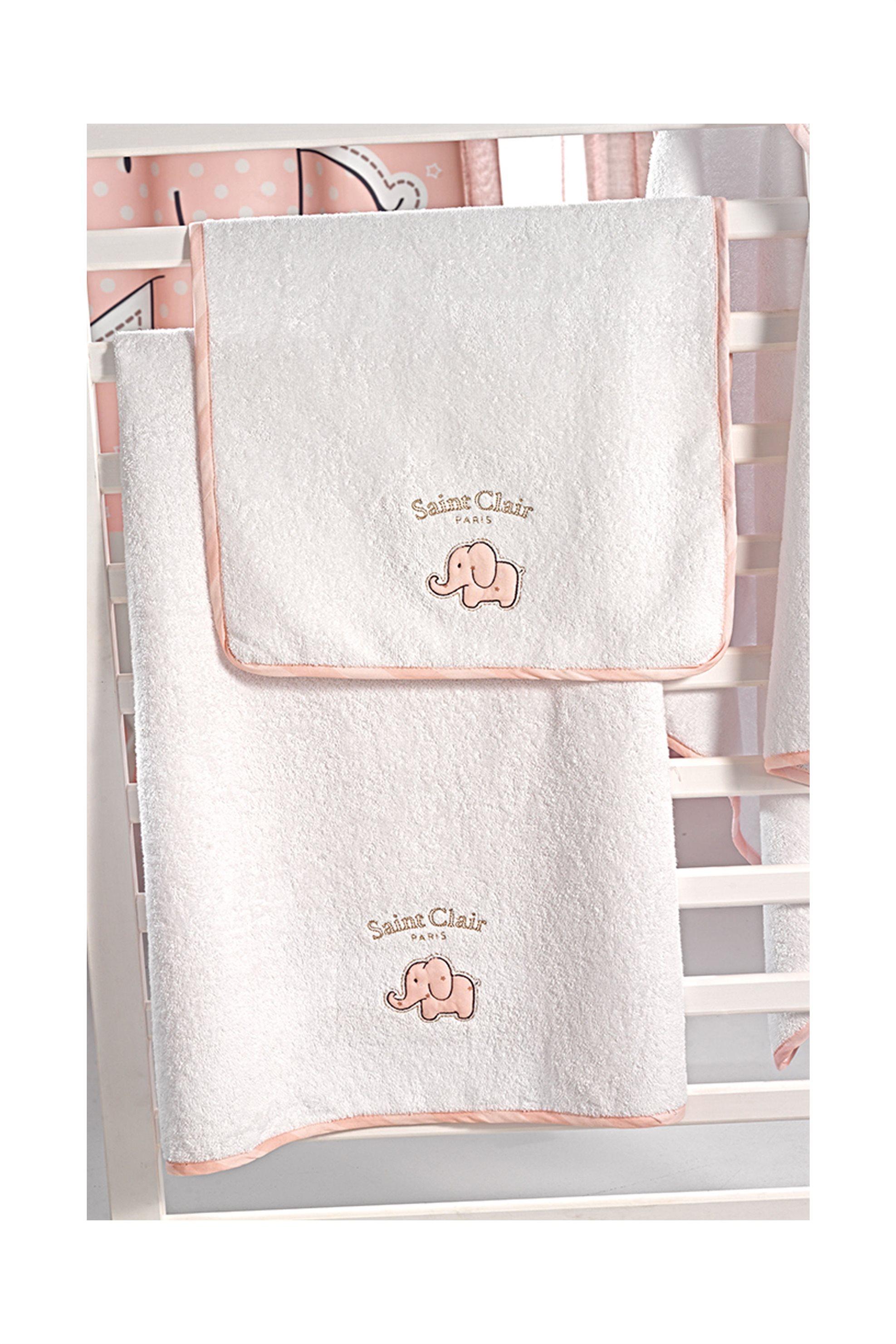 Saint Clair Paris σετ πετσέτες Africa Pink (2 τεμάχια) - 1722090215000 - Ροζ home   παιδια   πετσέτες   σετ παιδικές πετσέτες