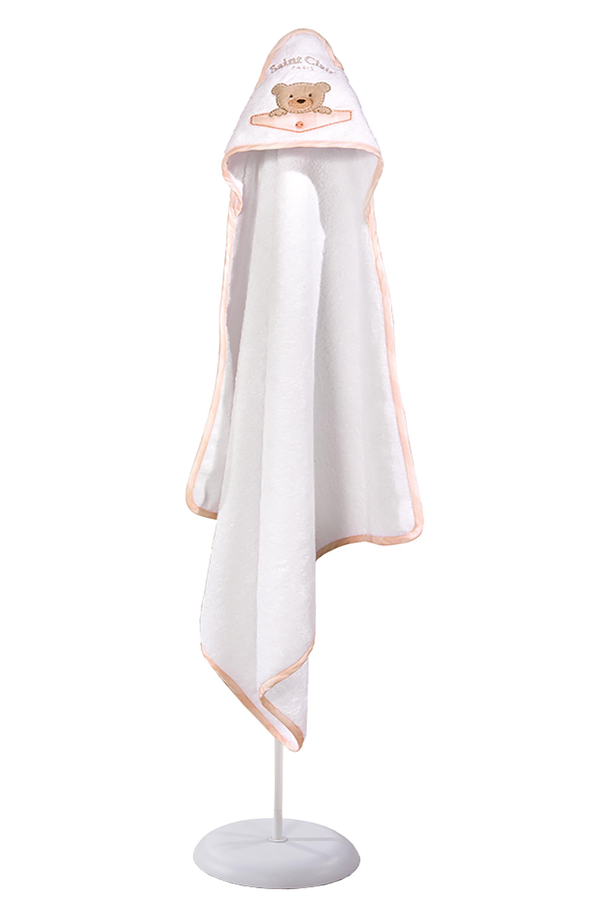 Saint Clair Paris βρεφική πετσέτα - κάπα Teddy Rose - 1731090215008 - Ροζ home   παιδια   πετσέτες