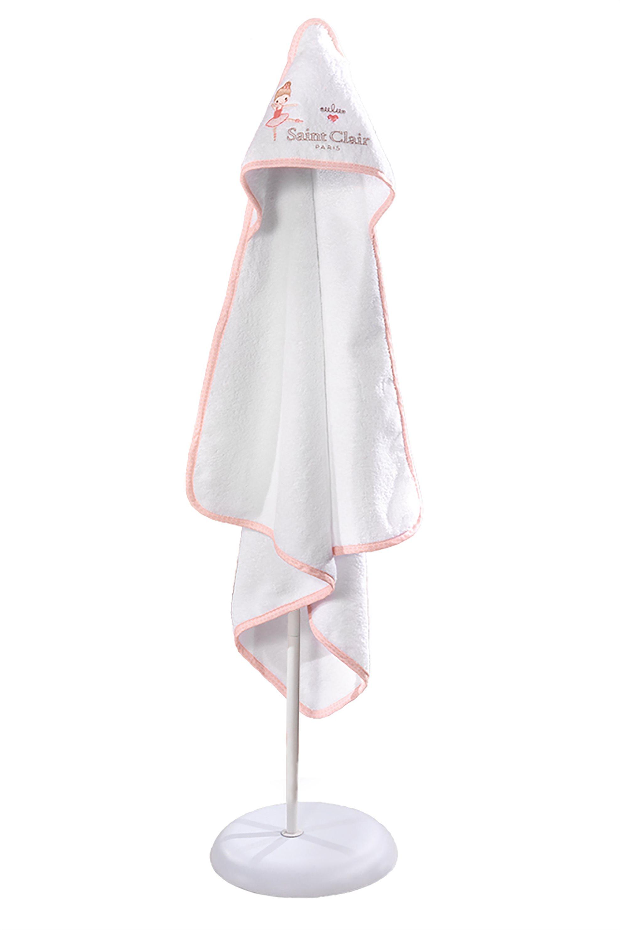 Saint Clair Paris βρεφική πετσέτα - κάπα Ballerina - 1731090215007 - Ροζ home   παιδια   πετσέτες