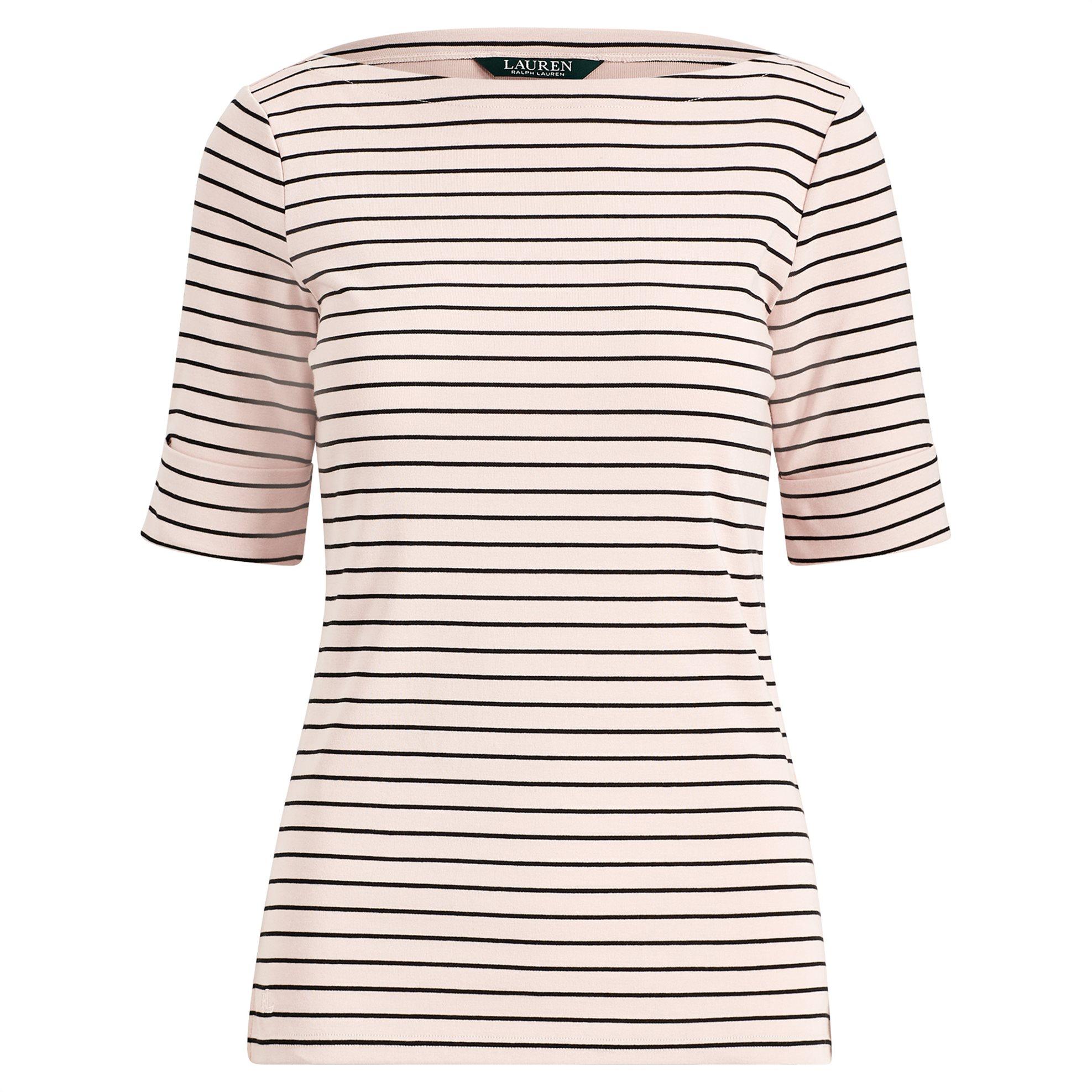Lauren Ralph Lauren γυναικεία μπλούζα Cotton Boatneck Top Demure Pink - 20070907 γυναικα   ρουχα   tops   μπλούζες   casual