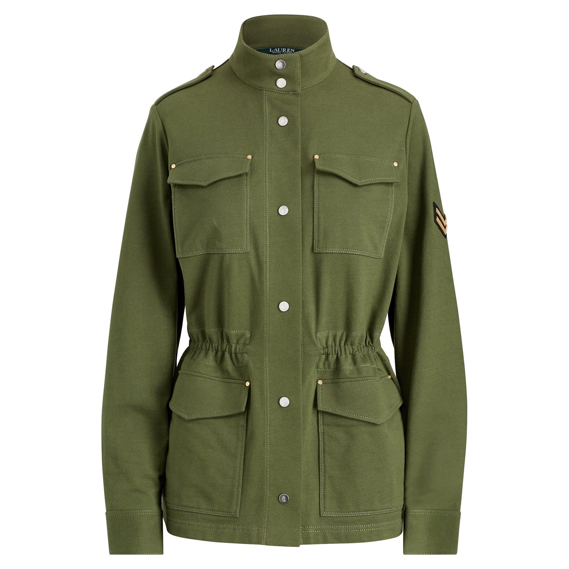 Notos Lauren Ralph Lauren γυναικείο Jacket Cotton Military Jacket -  200711793001 - Χακί 8d93a6acb97