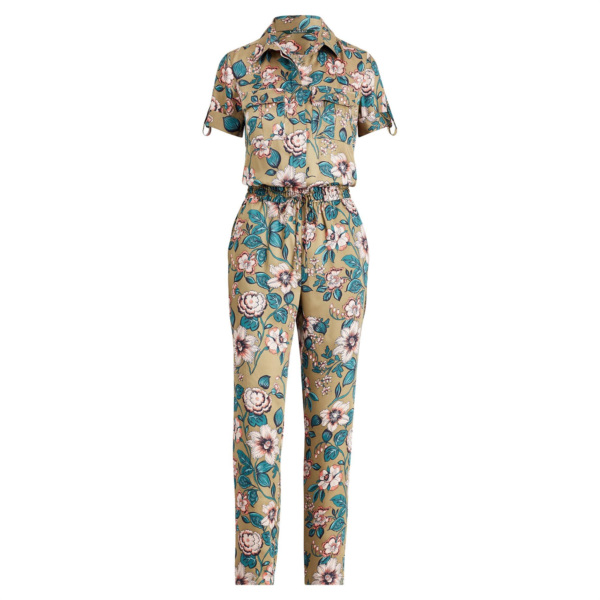 Lauren Ralph Lauren γυναικεία ολόσωμη φόρμα floral Twill Jumpsuit - 200717984001 γυναικα   ρουχα   ολόσωμες φόρμες   σαλοπέτες