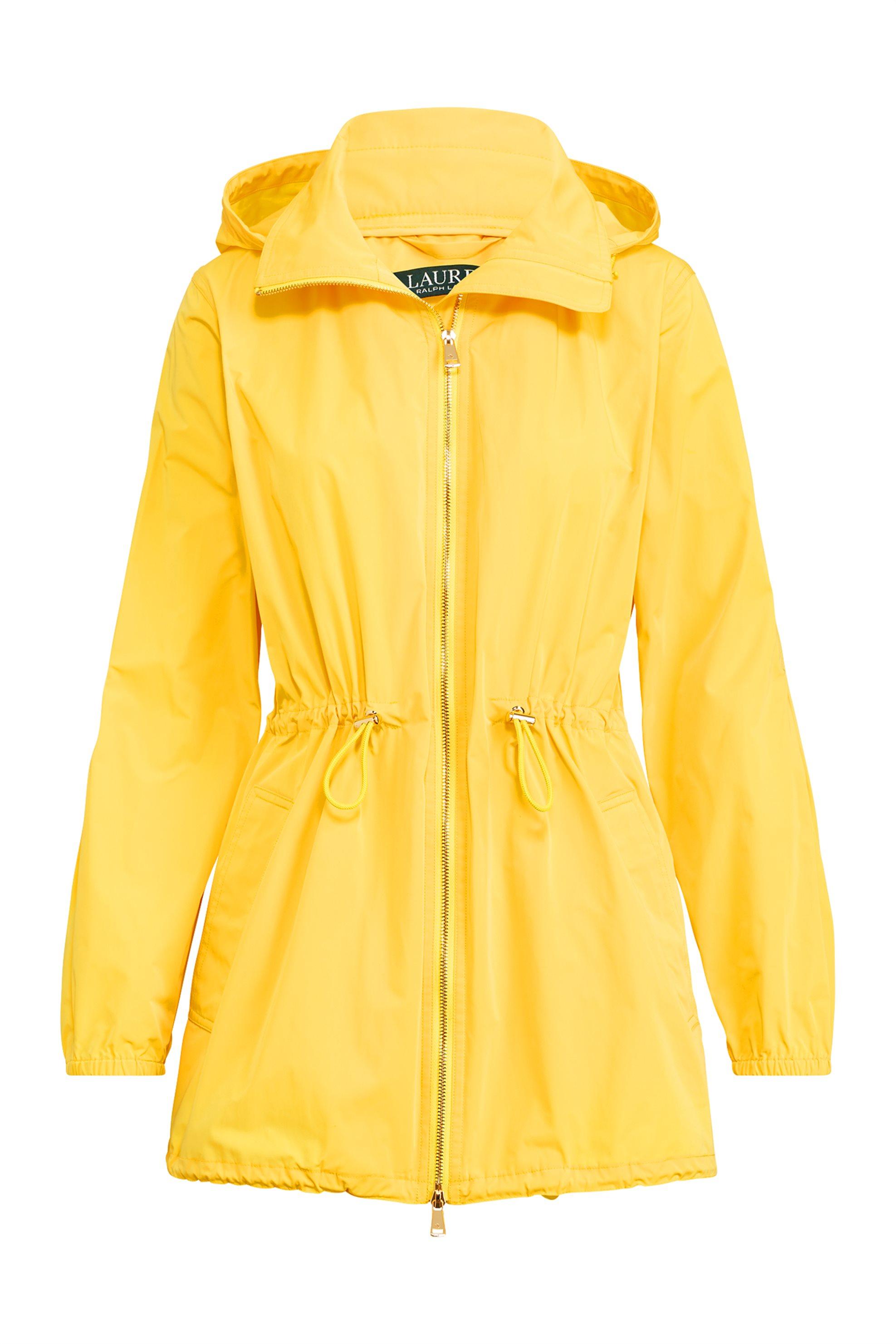 0bf4fca8a4a Lauren Ralph Lauren γυναικείo αδιάβροχο jacket με κουκούλα - 200725805002 -  Κίτρ