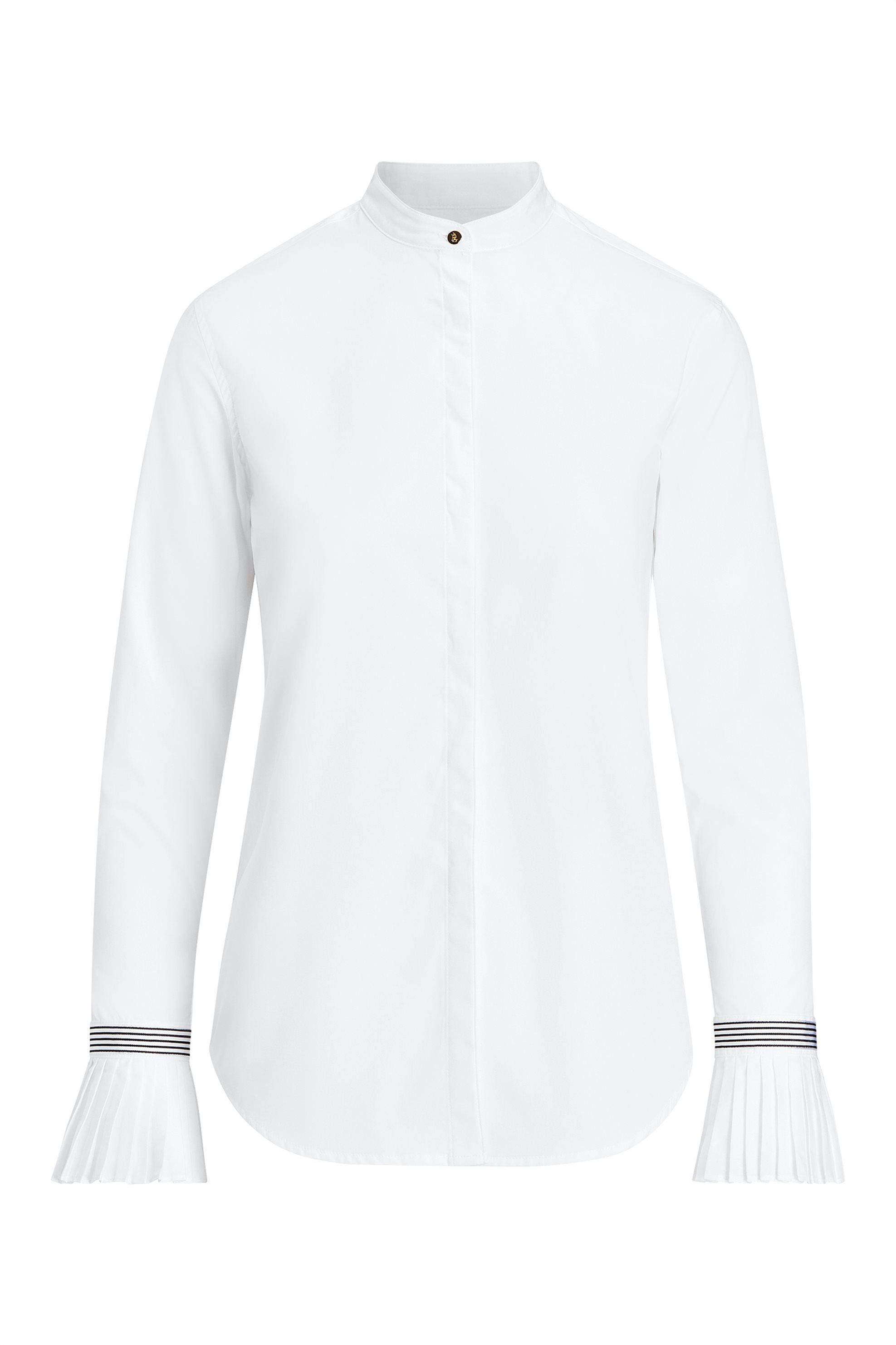 Lauren Ralph Lauren γυναικείo πουκάμισο με πλισέ μανσέτες - 200725871001 - Λευκό γυναικα   ρουχα   tops   πουκάμισα   casual
