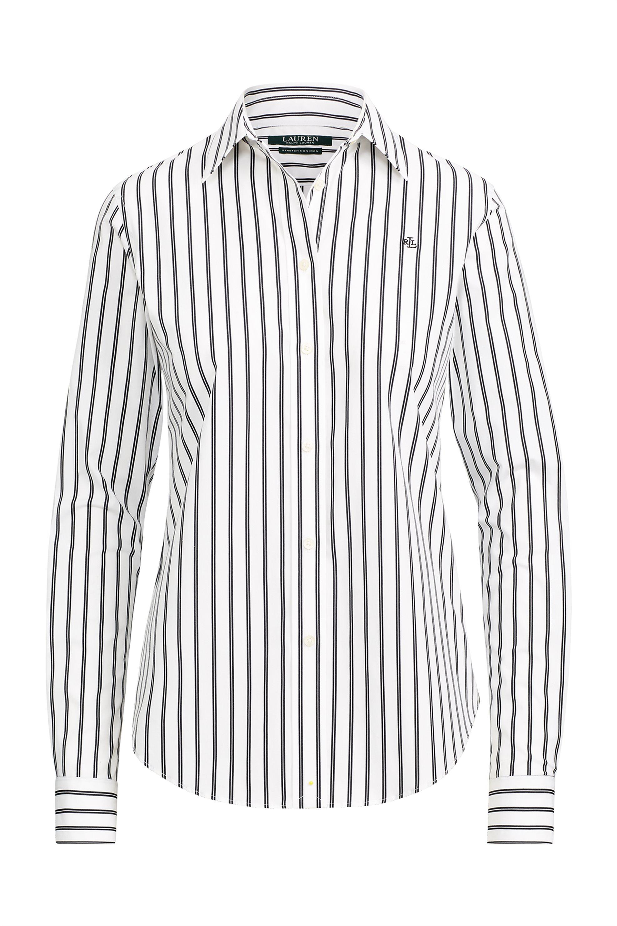 Lauren Ralph Lauren γυναικείo ριγέ πουκάμισο Striped Button-Down - 200725882001  γυναικα   ρουχα   tops   πουκάμισα   casual