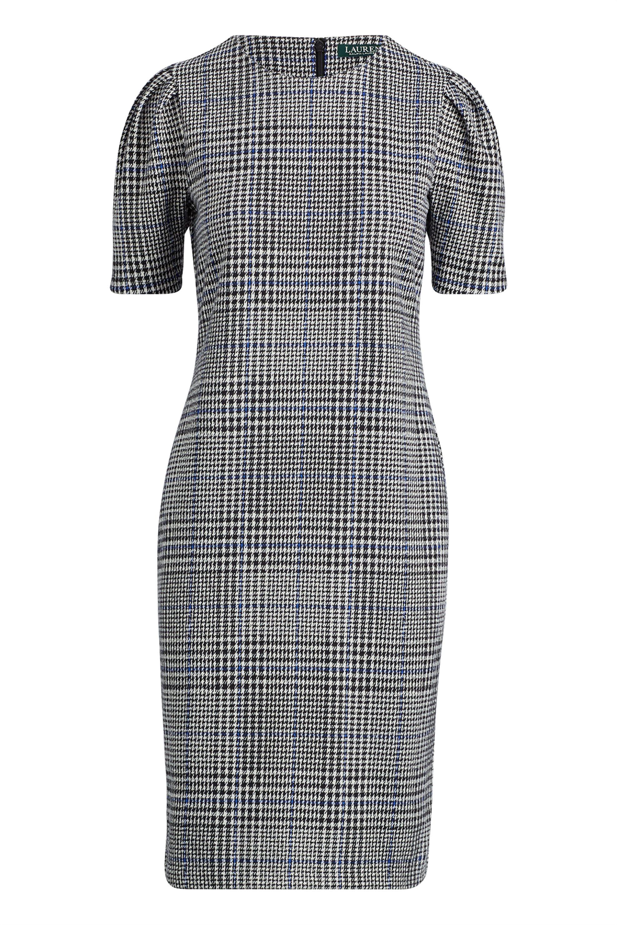 Lauren Ralph Lauren γυναικείo καρό φόρεμα με φουσκωτά μανίκια - 200726324001 - Γ γυναικα   ρουχα   φορέματα   mini φορέματα