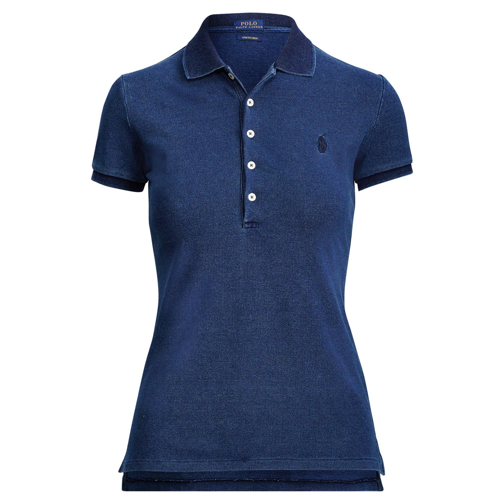Polo Ralph Lauren γυναικεία μπλούζα Slim Fit Stretch Polo Shirt - 211505654102 - γυναικα   ρουχα   tops   μπλούζες   πόλο