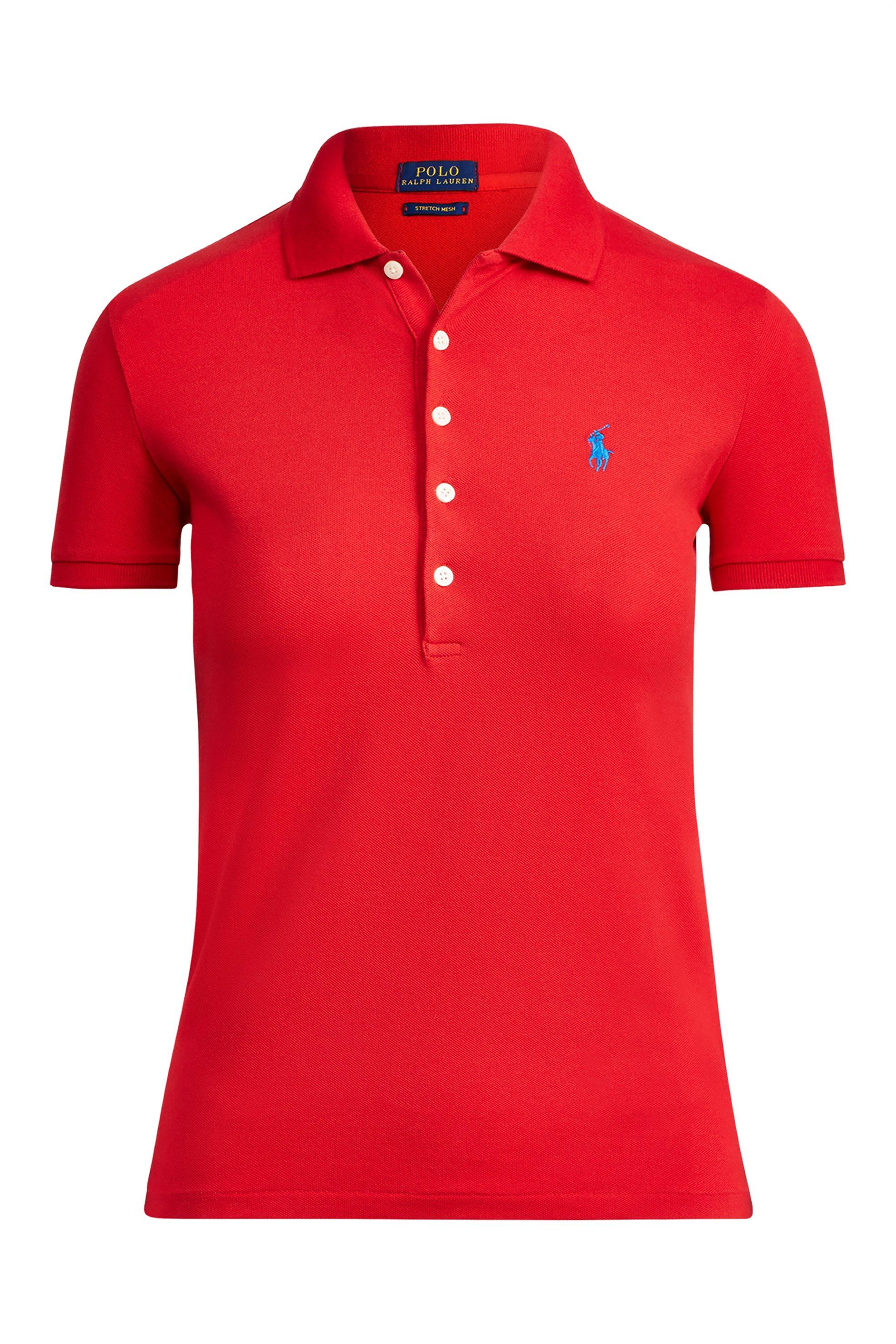 9eb91d92affe Notos Polo Ralph Lauren γυναικεία μπλούζα Polo Slim Fit Stretch -  211505654113 - Κόκκινο