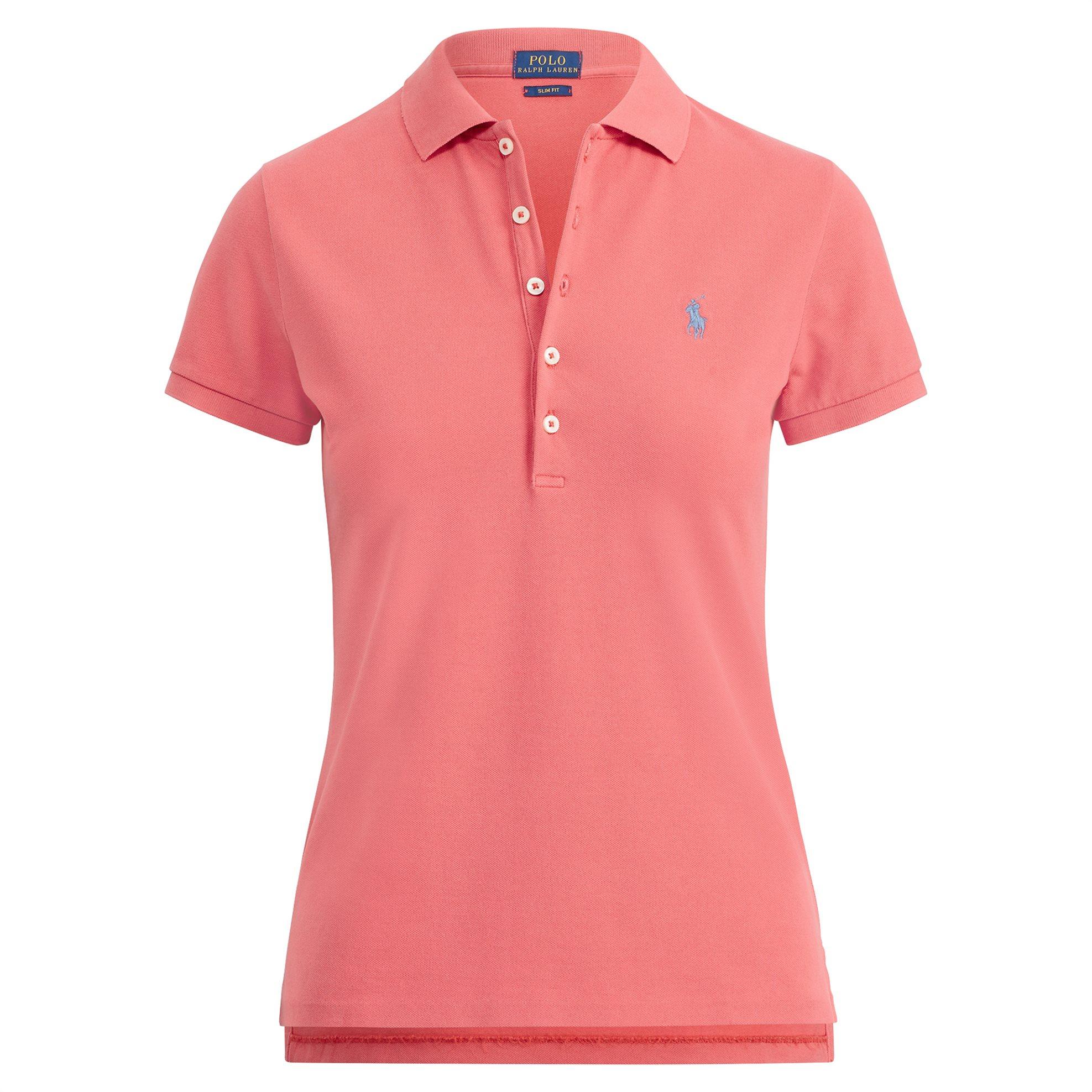 Polo Ralph Lauren γυναικεία μπλούζα Slim Fit Polo Shirt - 211505654124 - Κοραλί γυναικα   ρουχα   tops   μπλούζες   πόλο
