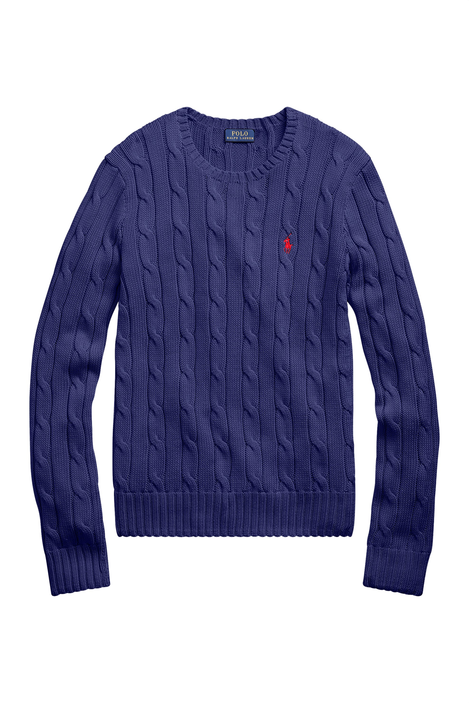 862127a31c82 Polo Ralph Lauren γυναικεία πλεκτή μπλούζα με σχέδιο πλεξούδες Cable-Knit -  211580009062 - Μπλε Σκούρο