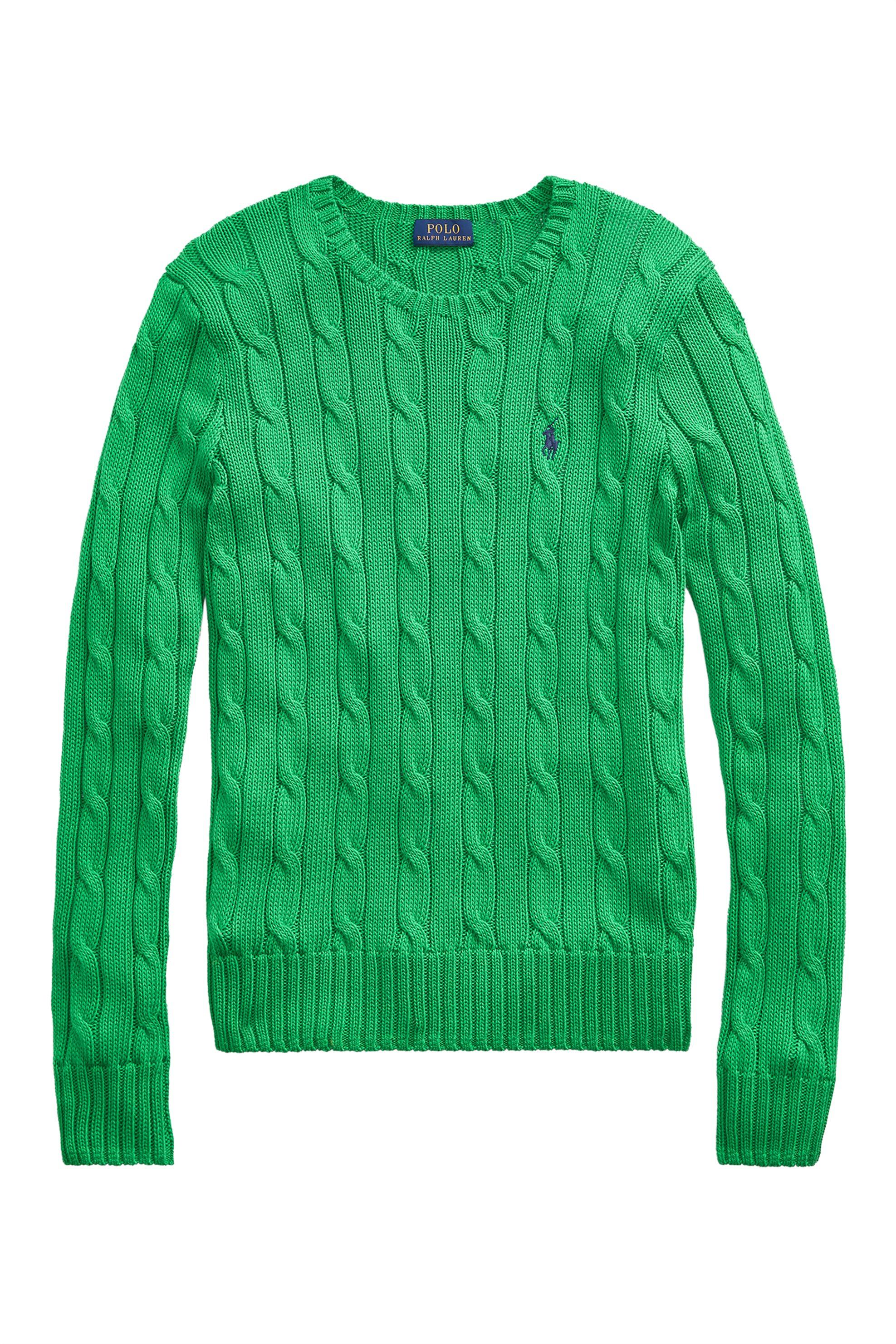 2523ea827910 Polo Ralph Lauren γυναικεία πλεκτή μπλούζα με σχέδιο πλεξούδες Cable-Knit -  2115