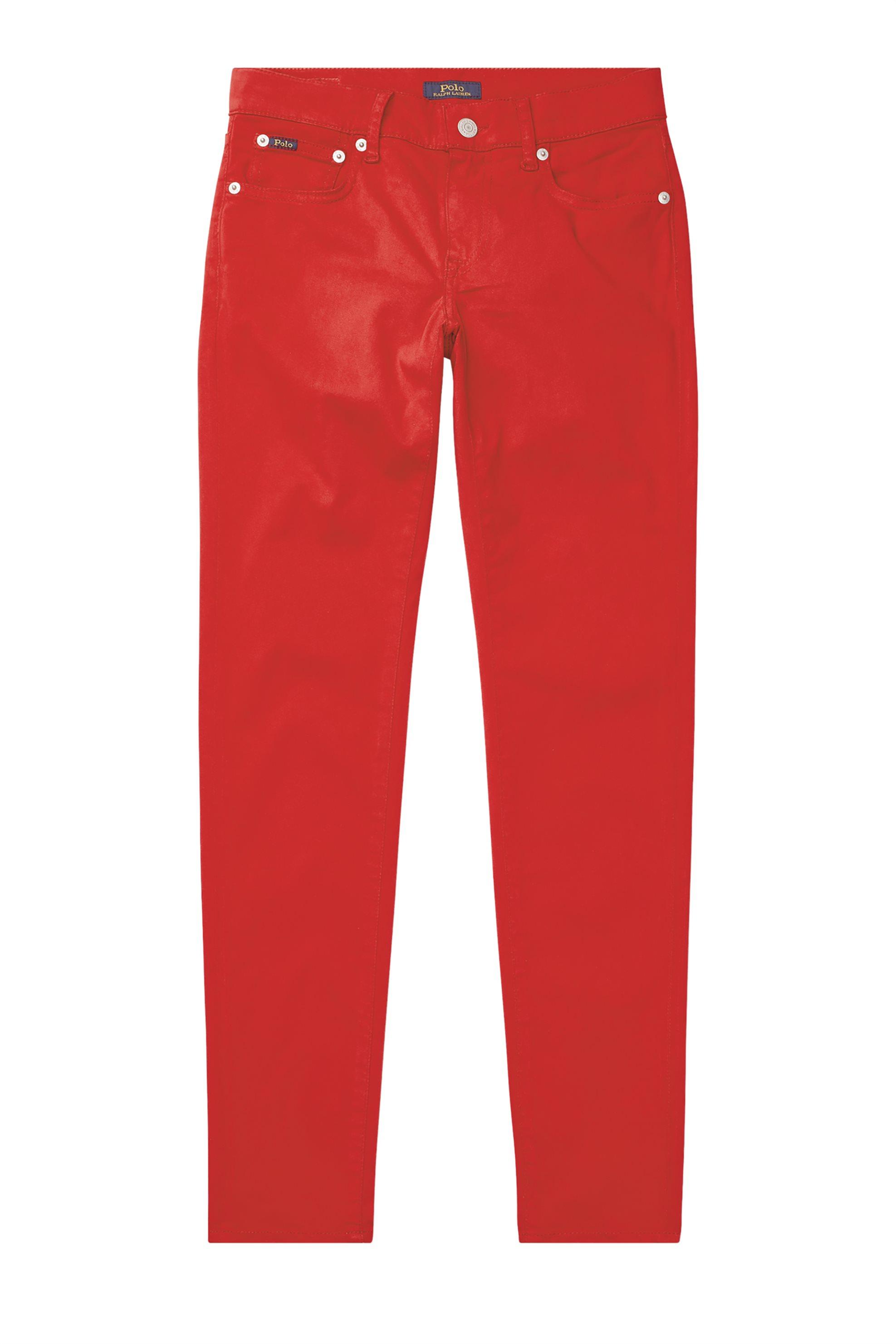 Polo Ralph Lauren γυναικείο παντελόνι Tompkins Sateen - 211671415014 - Κόκκινο γυναικα   ρουχα   παντελόνια   slim