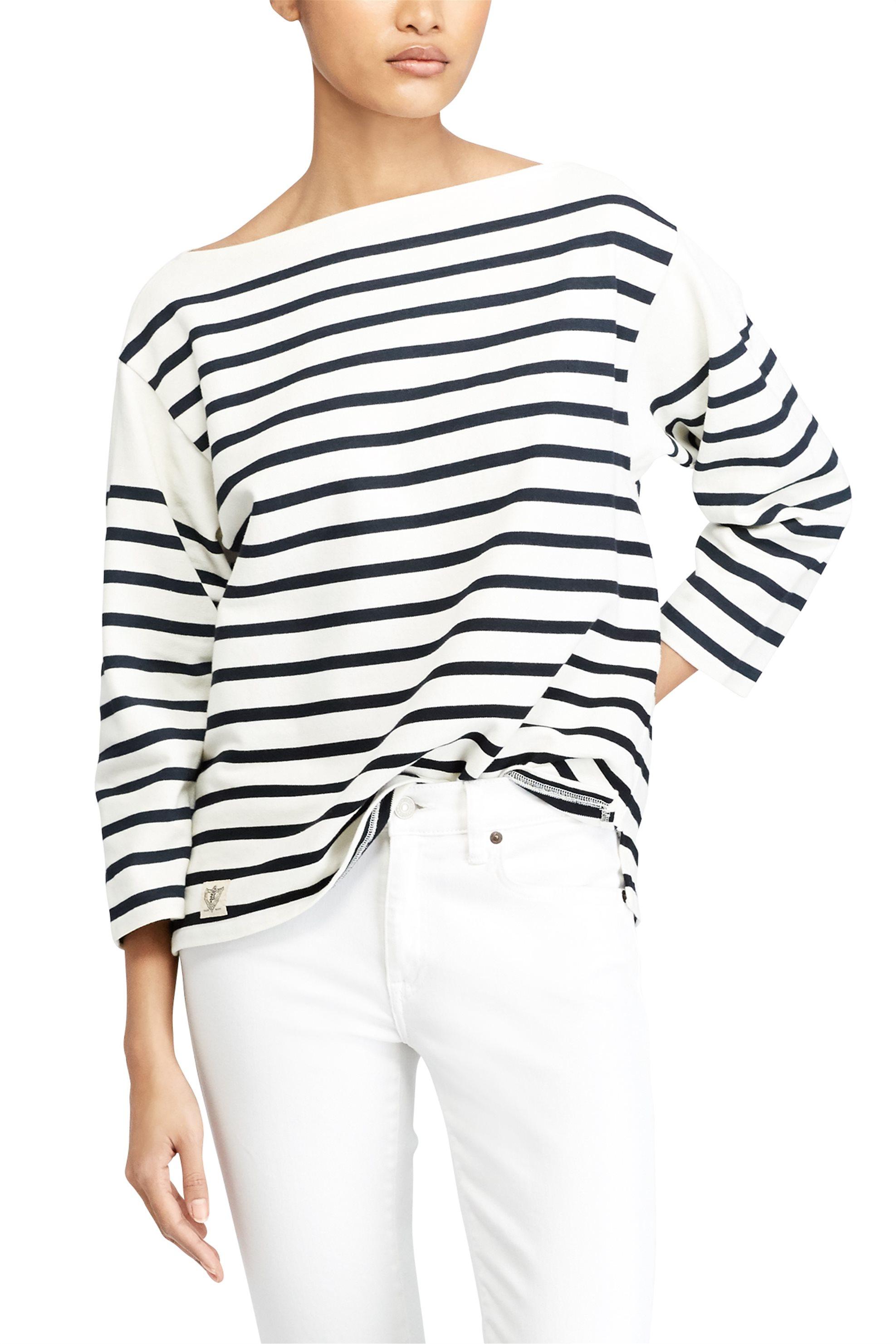 Polo Ralph Lauren γυναικεία μπλούζα ριγέ Concert Jersey Graphic T-Shirt - 211704 γυναικα   ρουχα   tops   μπλούζες   casual