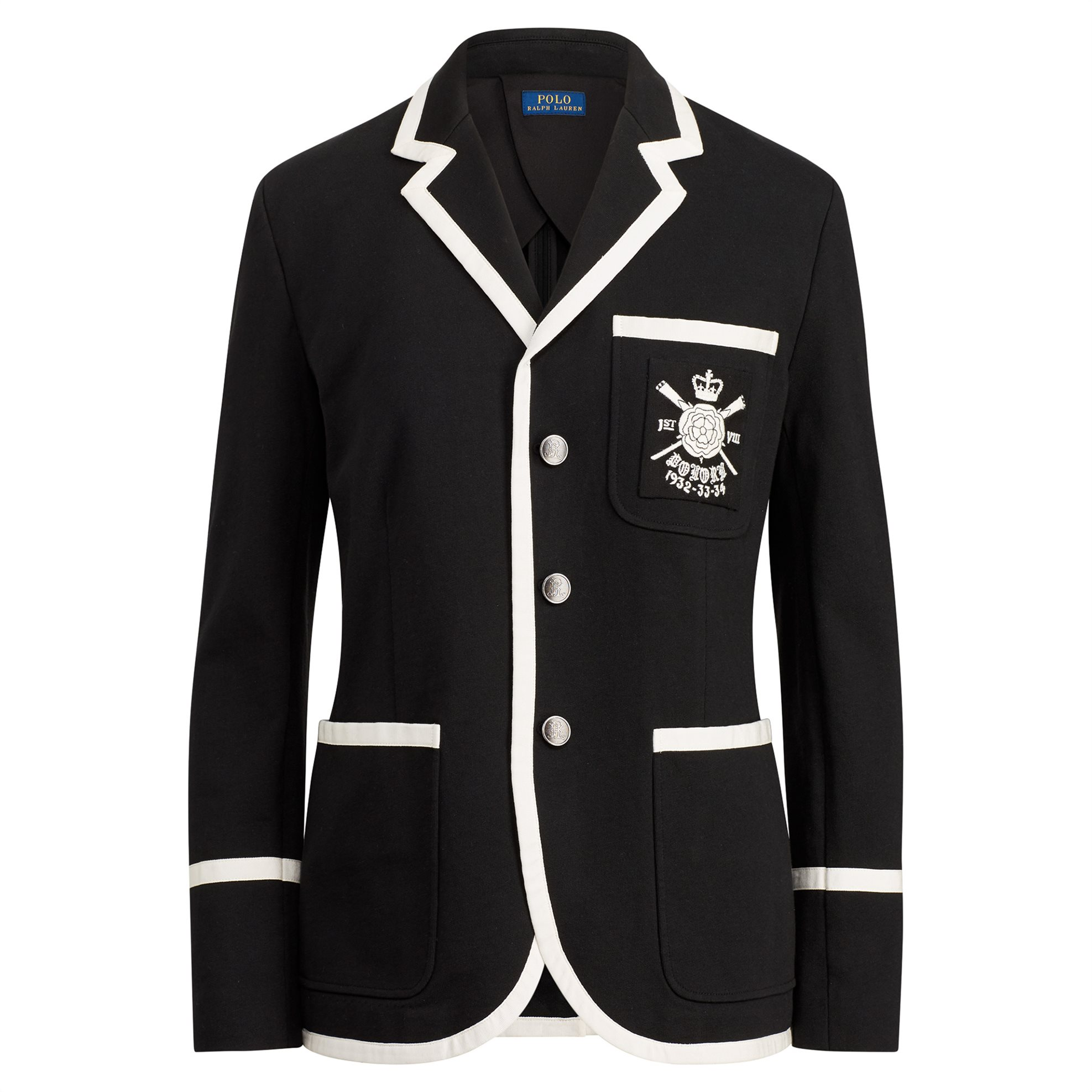 Polo Ralph Lauren γυναικείο σακάκι Embroidered knitted Cotton Blazer - 211704856 γυναικα   ρουχα   πανωφόρια   μπουφάν   σακάκια   σακάκια